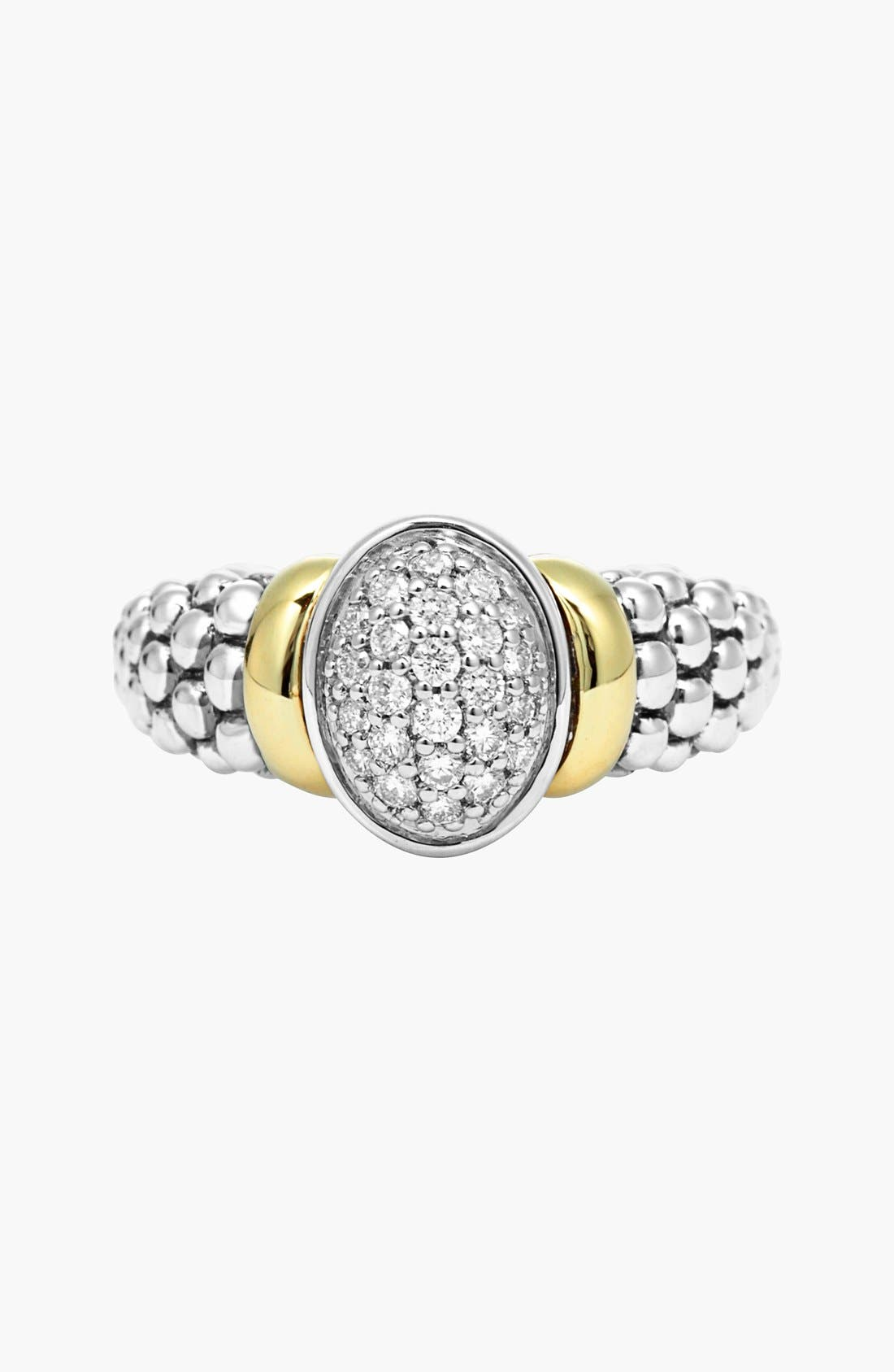 Alternate Image 5  - Lagos 'Twilight' Oval Diamond Ring (Online Only)