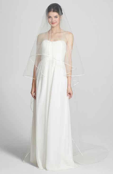 414da32e5 Wedding Belles New York 'Mable' Two-Tier Satin Trim Cathedral Veil