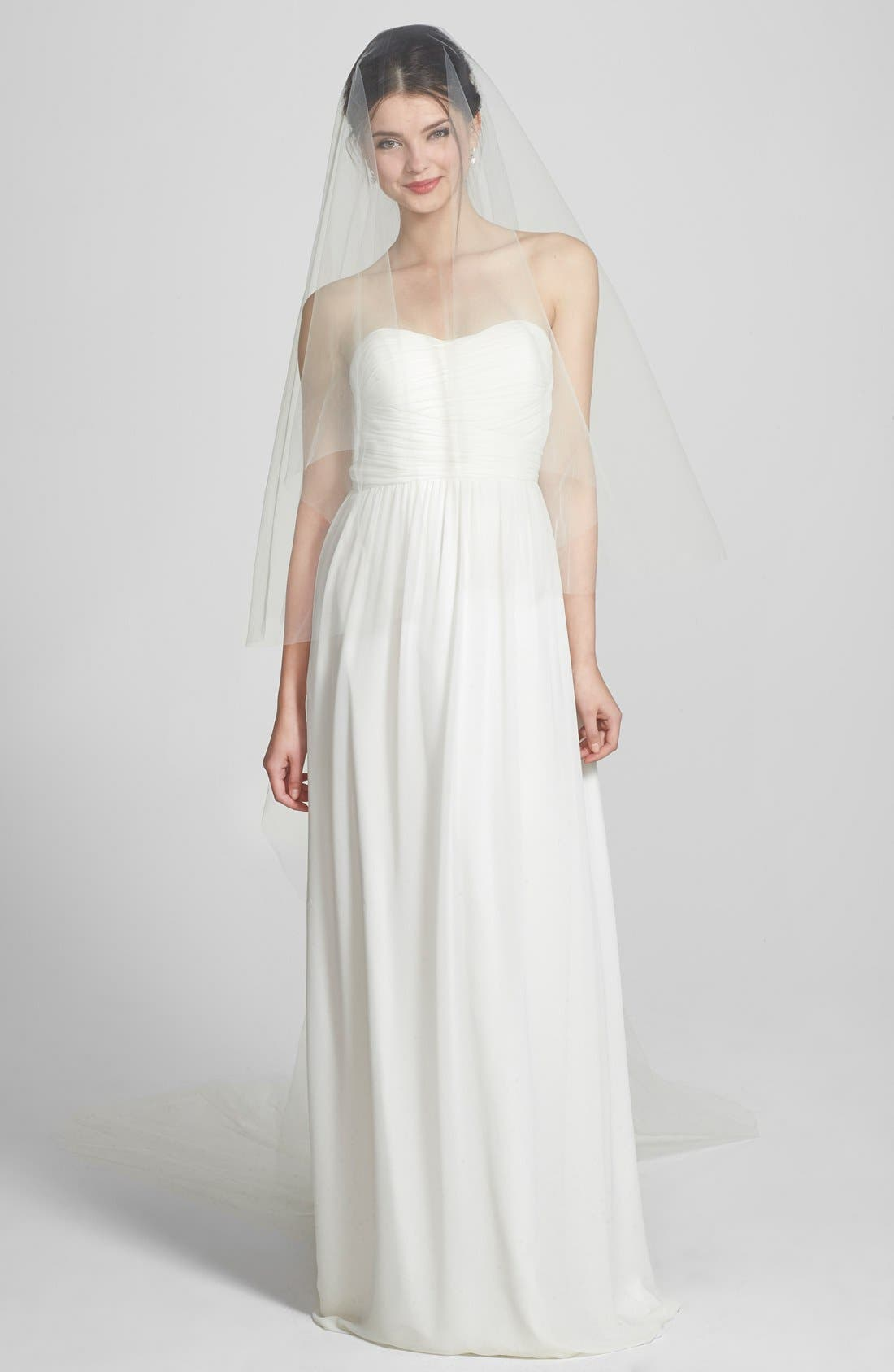 Two-Tier Cathedral Veil,                             Main thumbnail 1, color,                             Ivory
