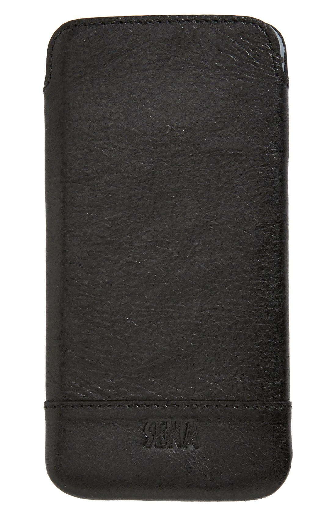 Heritage Ultra Slim Leather iPhone 6/6s Case,                         Main,                         color, Black