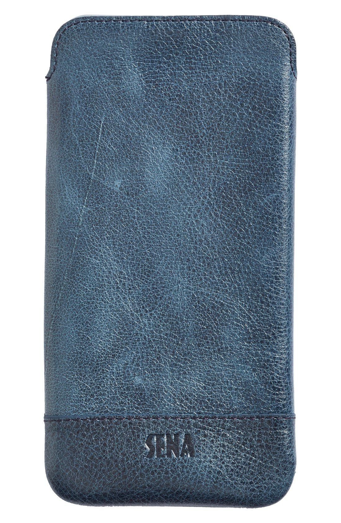 Main Image - Sena Heritage - Ultra Slim Leather iPhone 6 Plus/6s Plus Pouch