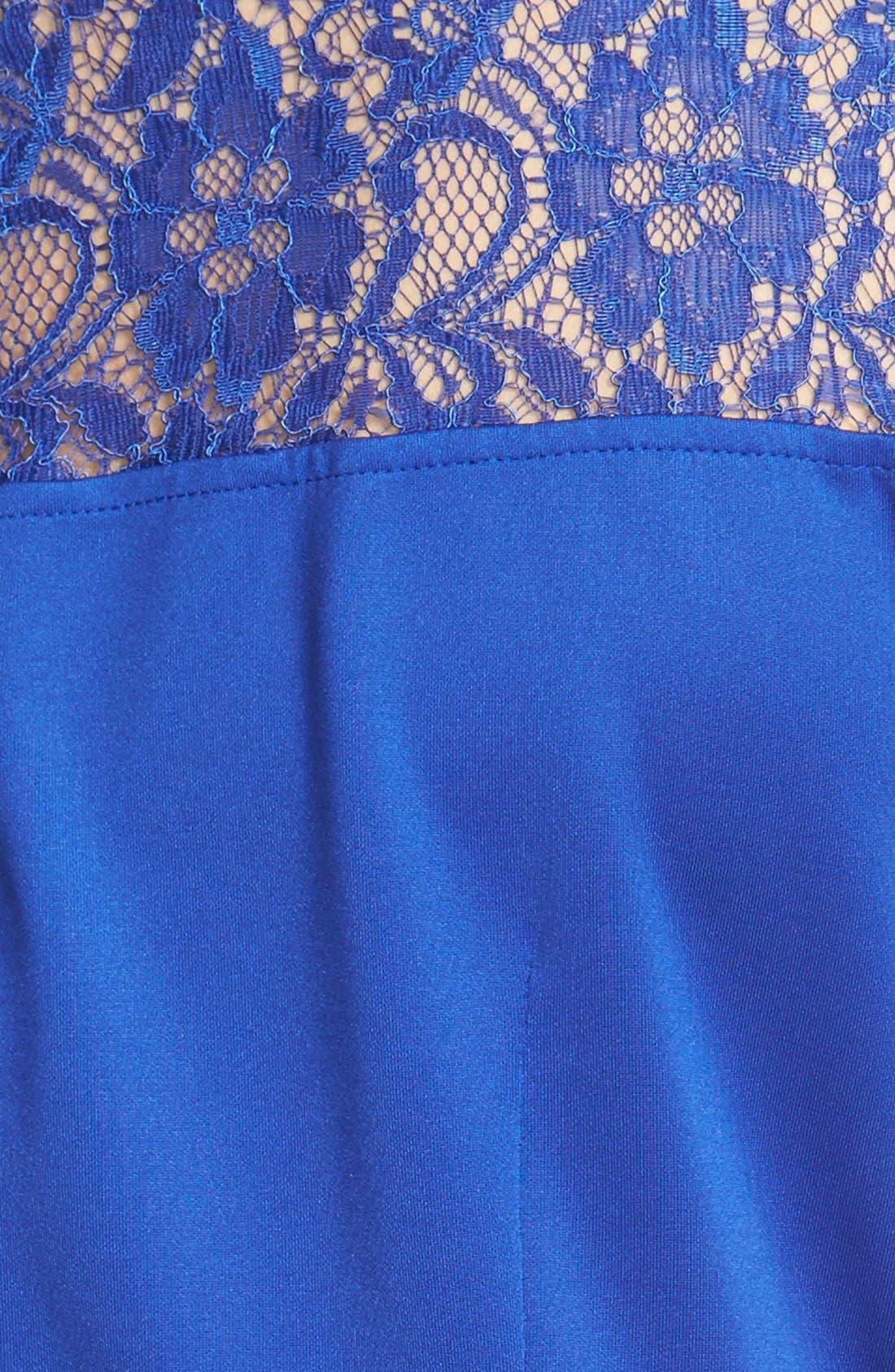 Alternate Image 3  - Gabby Skye Lace Yoke Sheath Dress (Plus Size)