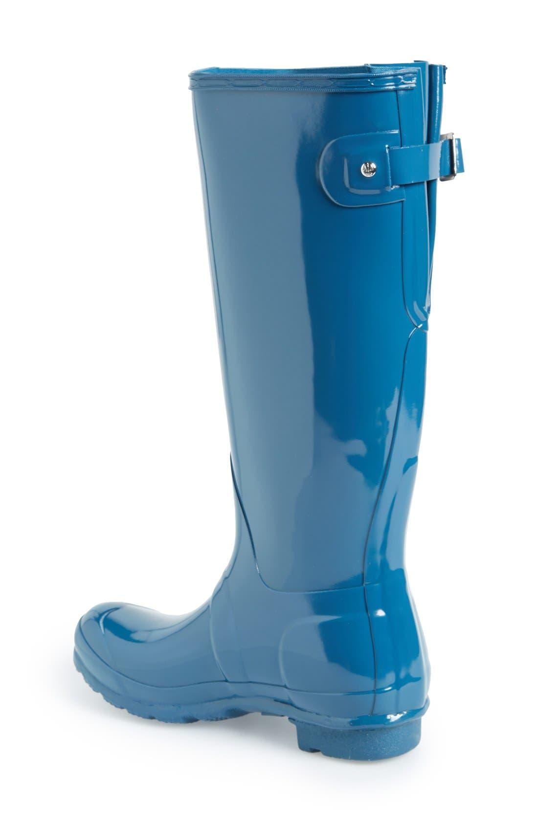 Alternate Image 2  - Hunter Adjustable Back Gloss Rain Boot (Women)