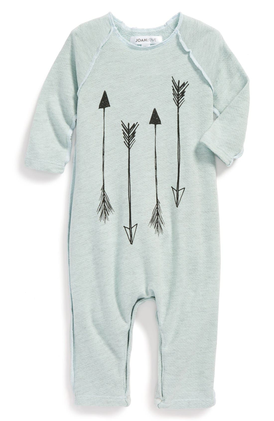 Alternate Image 1 Selected - Joah Love French Terry Romper (Baby Boys)