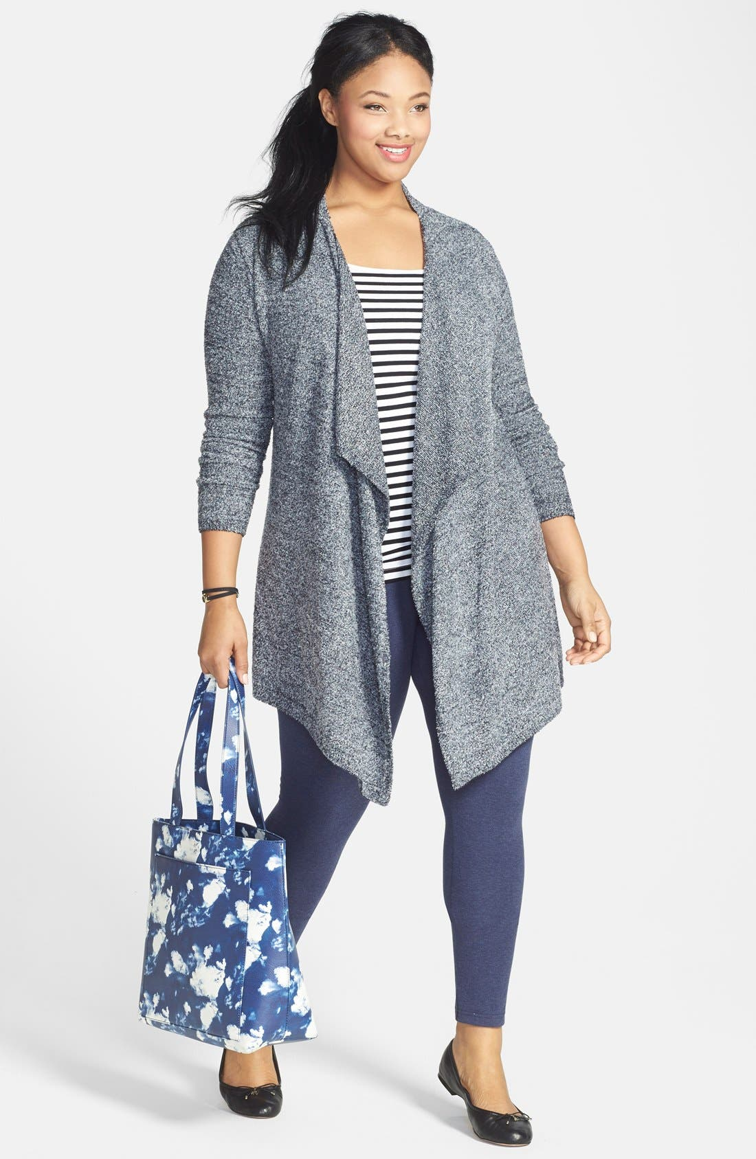 Barefoot Dreams® Cardigan, Sejour Tank & Lyssé Leggings (Plus Size)