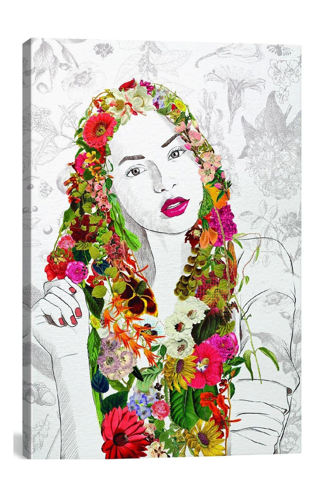 'Flower Fairy - DarkLord' Giclée Print Canvas Art,                         Main,                         color, White/ Multi