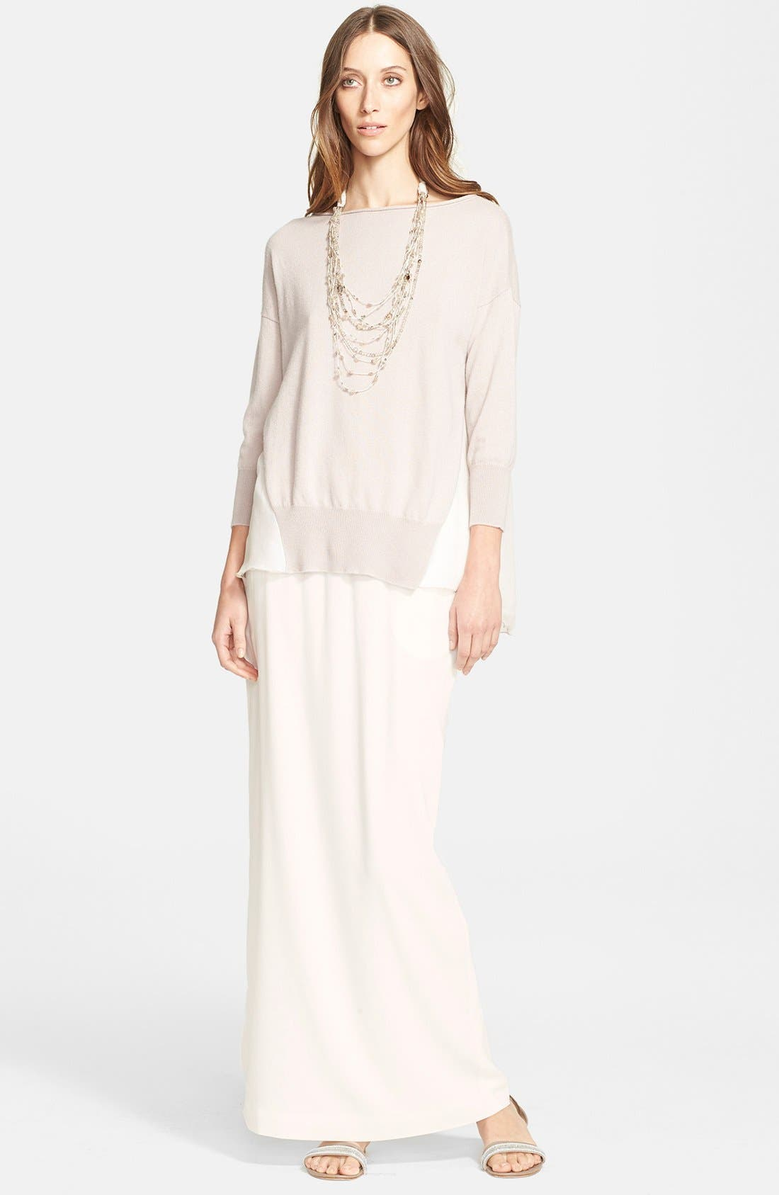 Alternate Image 4  - Fabiana Filippi Silk Maxi Skirt