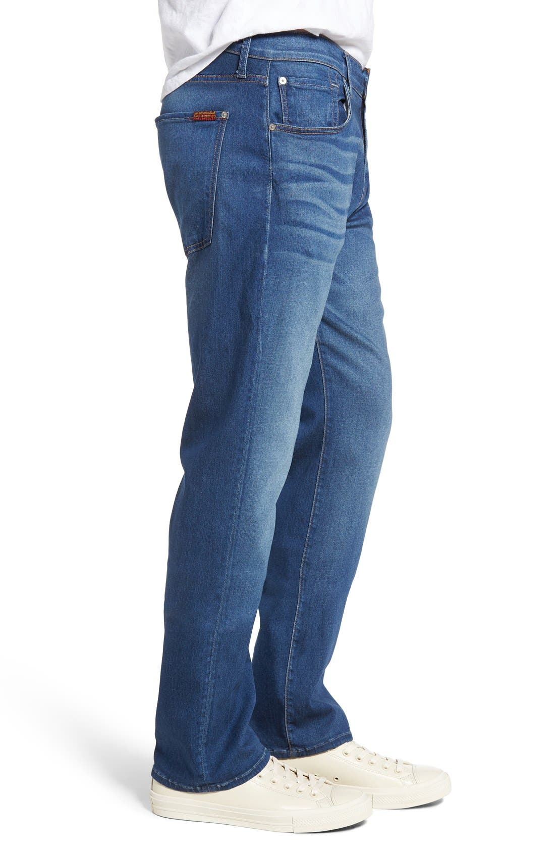 Alternate Image 3  - 7 For All Mankind® The Straight Luxe Performance Slim Straight Leg Jeans (Retrograde)