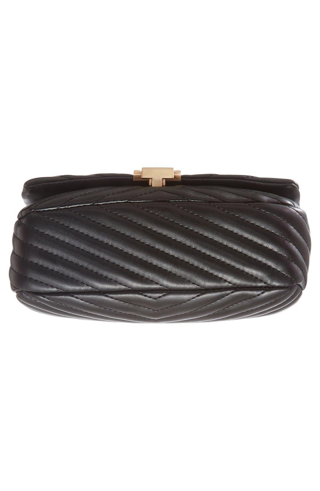 Alternate Image 6  - Topshop Quilted Crossbody Bag