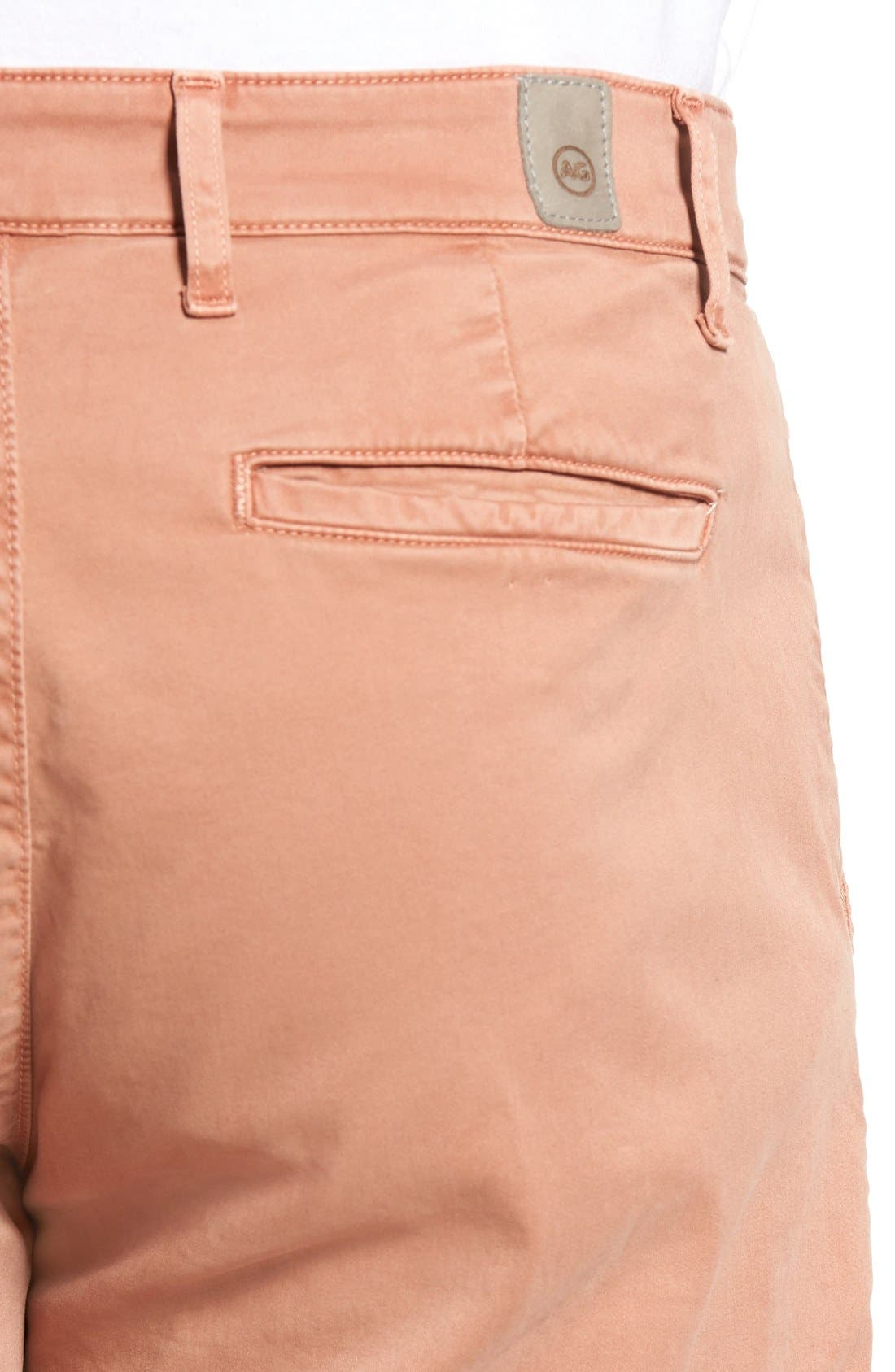 'Griffin' Chino Shorts,                             Alternate thumbnail 4, color,                             Sulfur Canyon