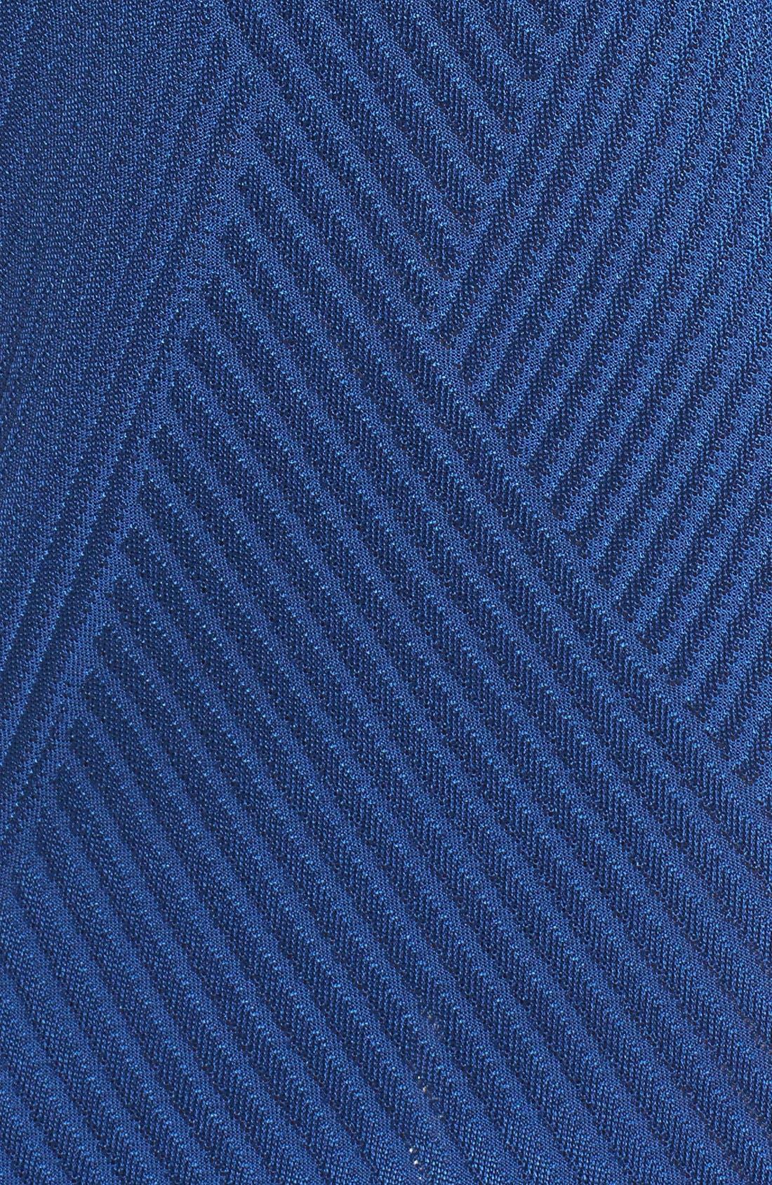 Alternate Image 5  - Ming Wang Texture Knit Sheath Dress
