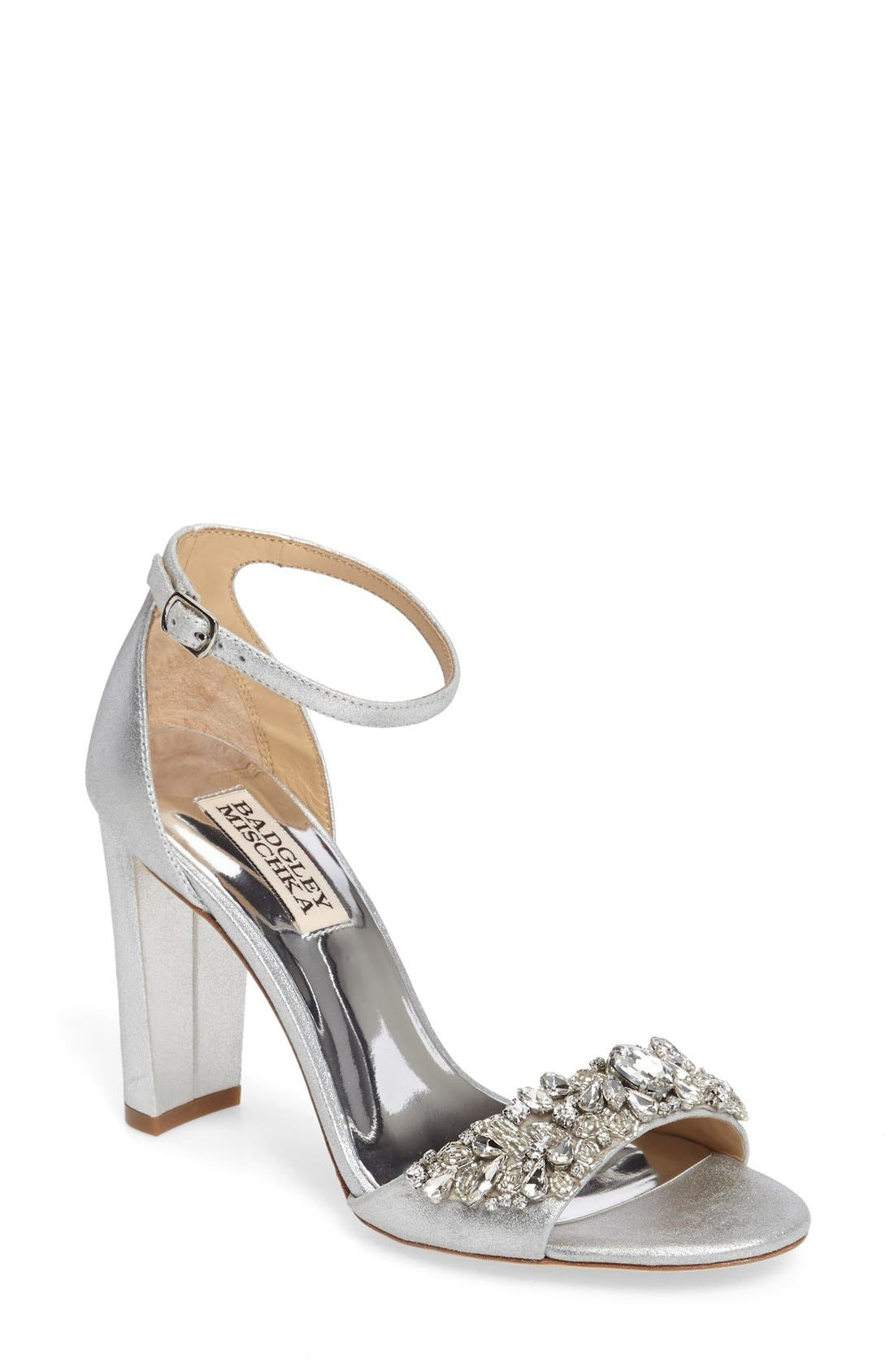 Main Image - Badgley Mischka Barby Ankle Strap Sandal (Women)