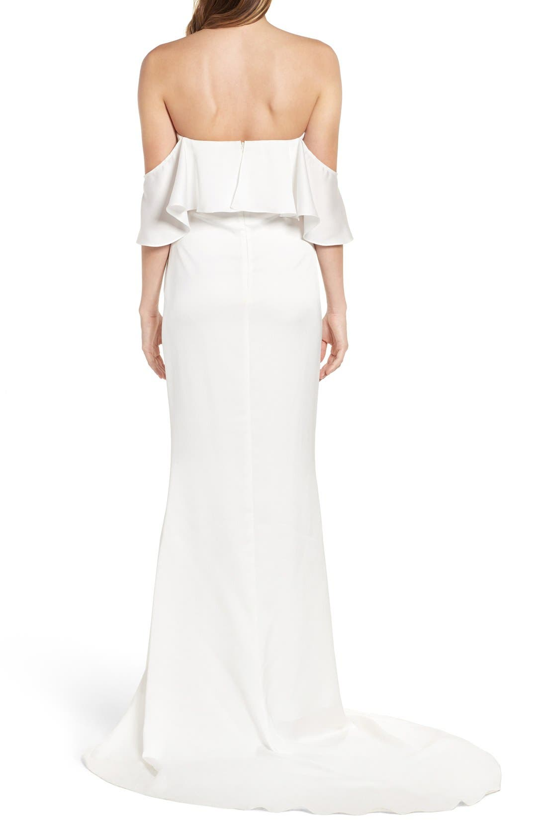 The Santa Barbara Off the Shoulder Gown,                             Alternate thumbnail 3, color,                             White