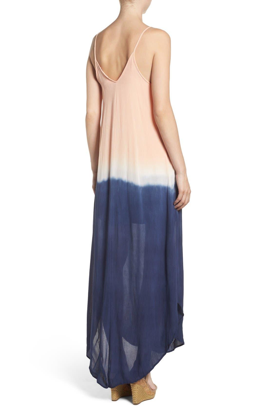 Maxi Dress,                             Alternate thumbnail 2, color,                             Navy Blush