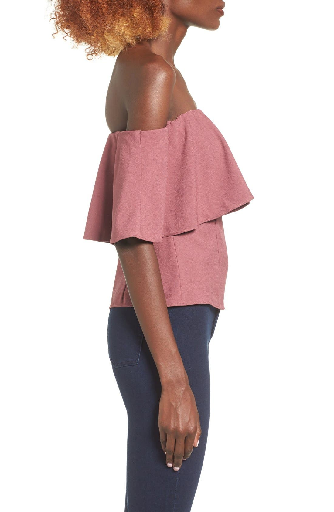 Alternate Image 3  - Leith Off the Shoulder Top
