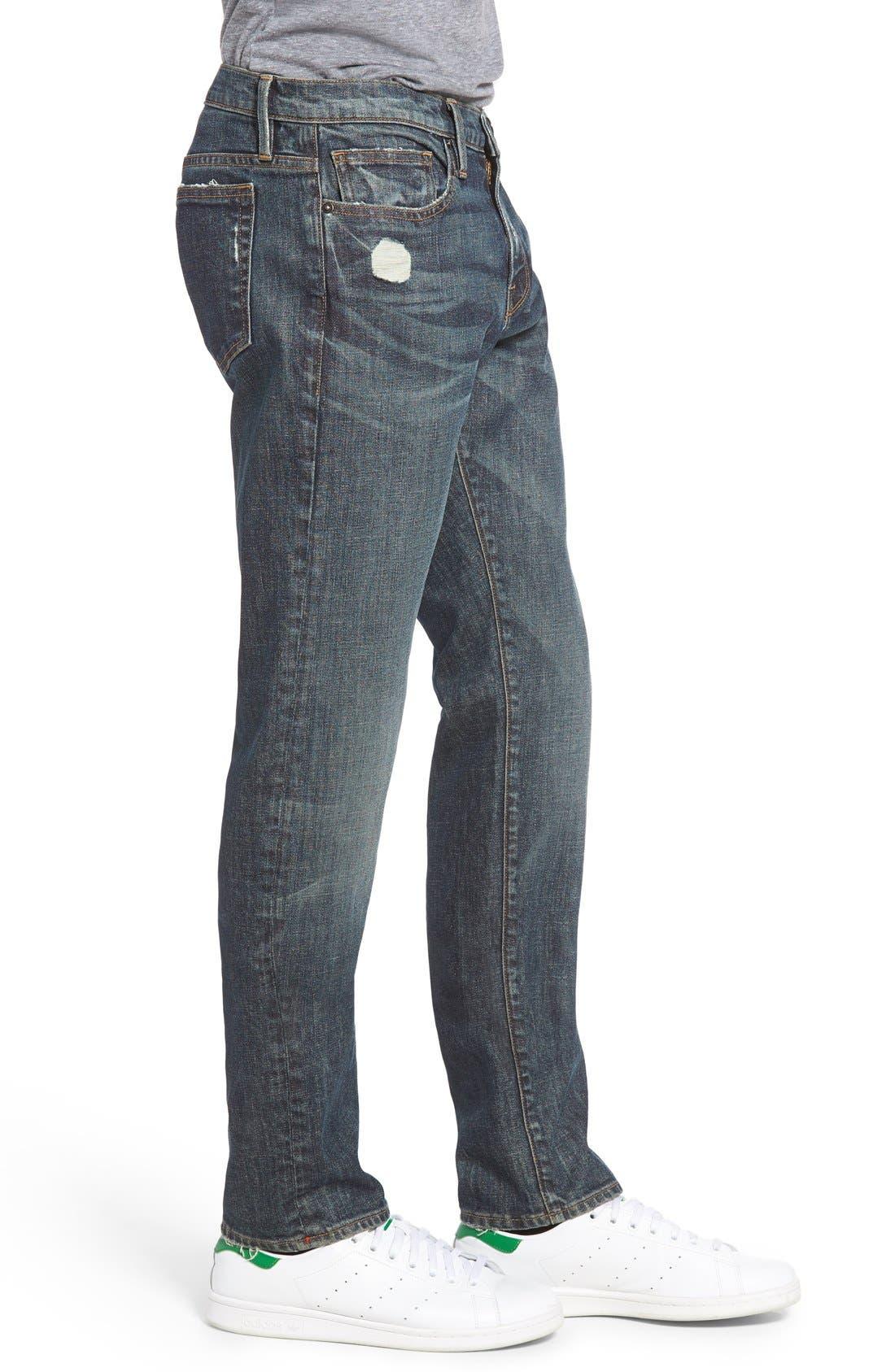 Alternate Image 3  - FRAME L'Homme Slim Fit Jeans (Fort Davis)