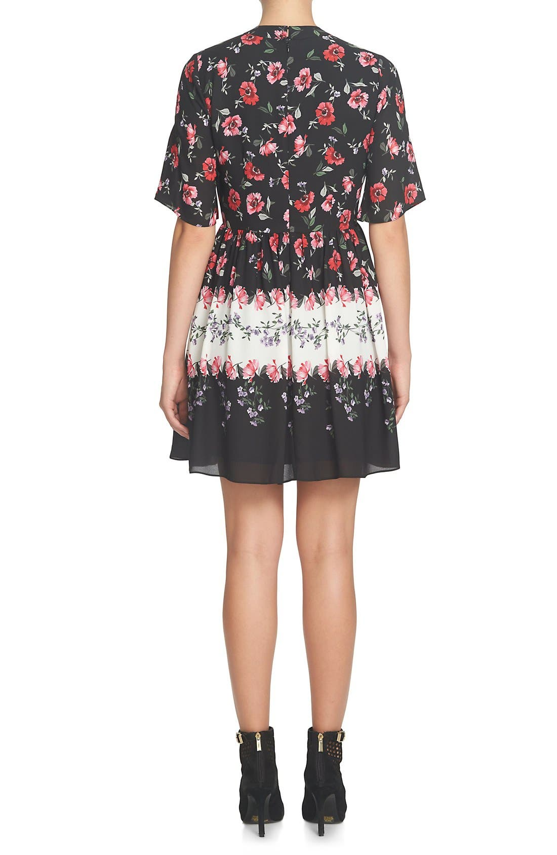 Alternate Image 2  - CeCe Elise Floral Dress (Regular & Petite)