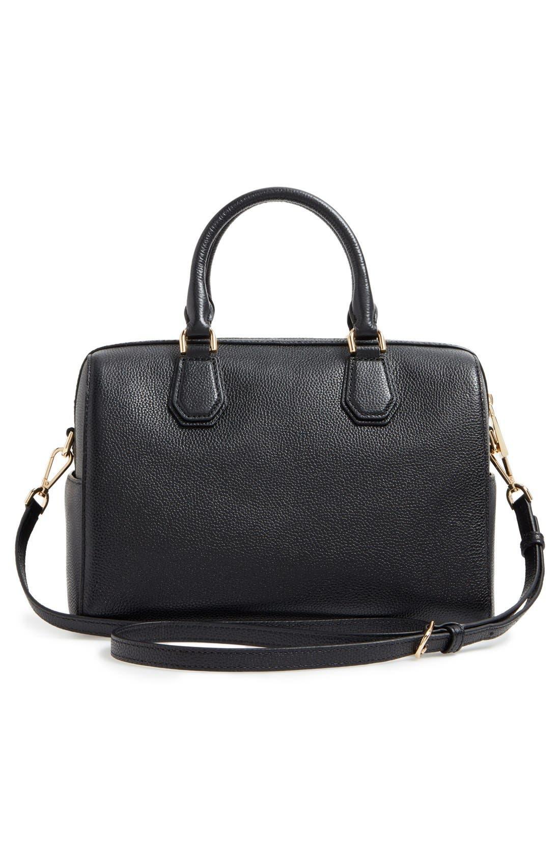 Medium Mercer Duffel Bag,                             Alternate thumbnail 3, color,                             Black/ Gold