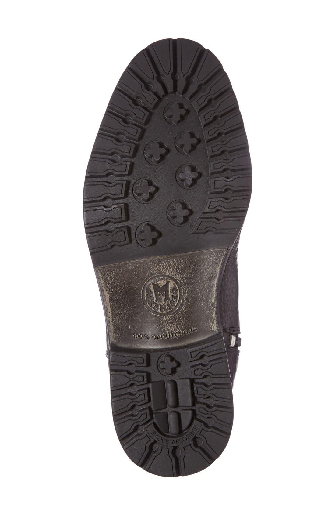 Leonardo Genuine Shearling Lined Boot,                             Alternate thumbnail 4, color,                             Black Montana