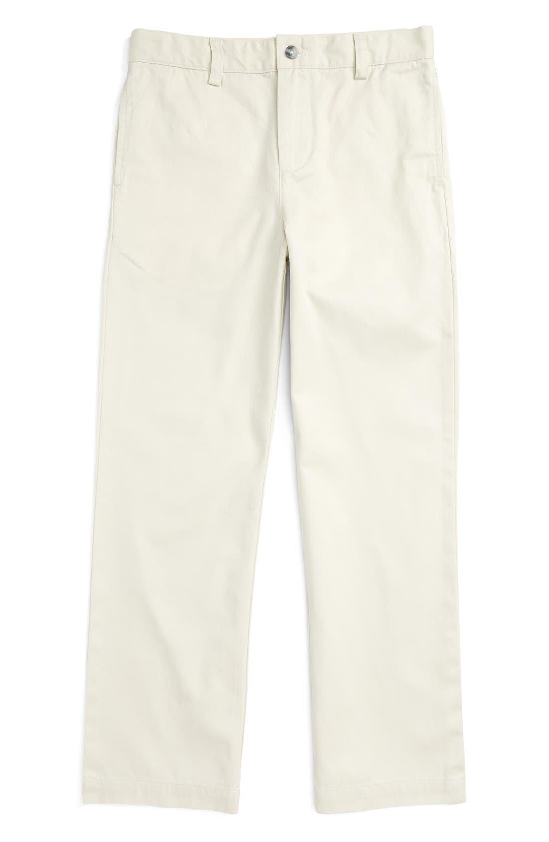 Main Image - vineyard vines Club Cotton Twill Pants (Big Boys)