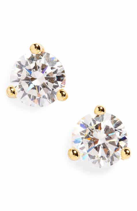 4d273d526 Nordstrom Round 0.50ct Cubic Zirconia Earrings