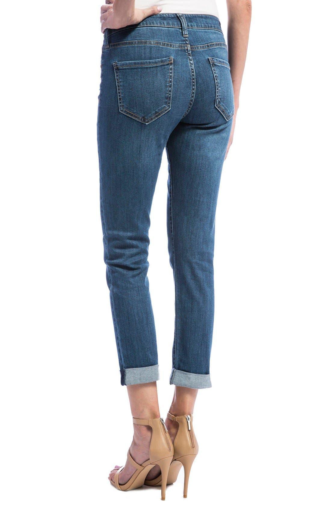 Alternate Image 2  - Liverpool Jeans Company Peyton Slim Stretch Crop Boyfriend Jeans (Super Bleach Out)