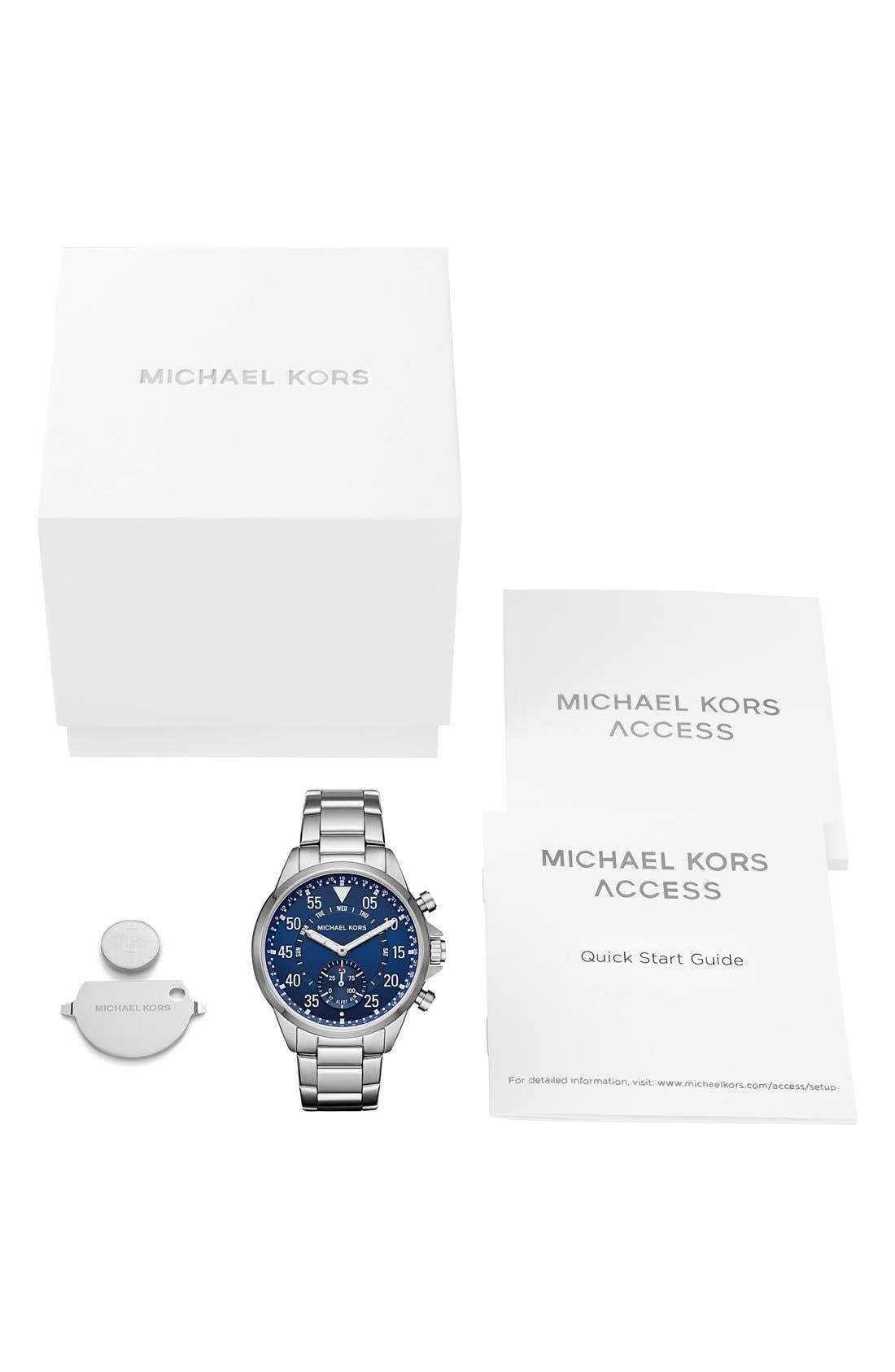 Alternate Image 6  - Michael Kors Gage Bracelet Smart Watch, 45mm