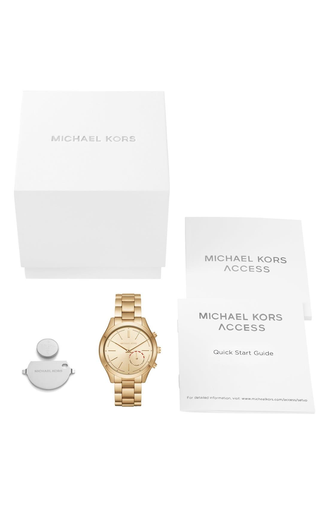 MICHAEL Michael Kors Slim Runway Smart Watch, 42mm,                             Alternate thumbnail 6, color,                             Gold