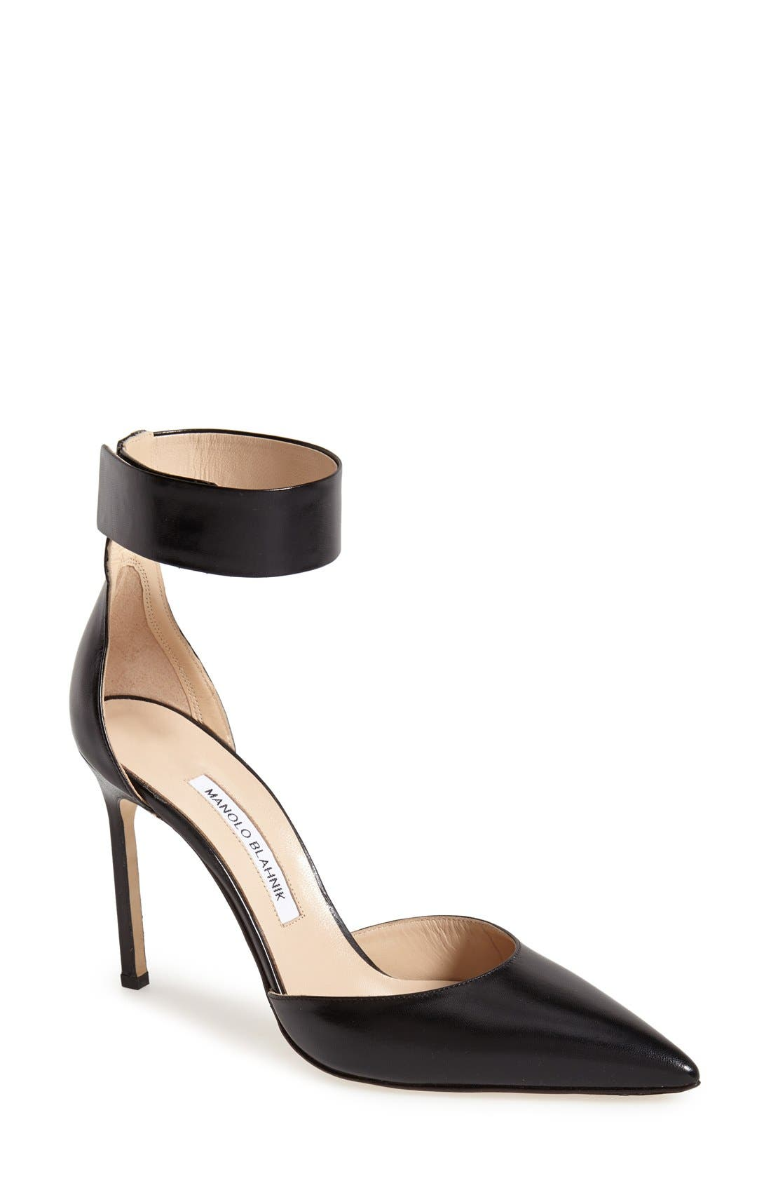 Alternate Image 1 Selected - Manolo Blahnik 'Ollico' Ankle Cuff d'Orsay Pump (Women)