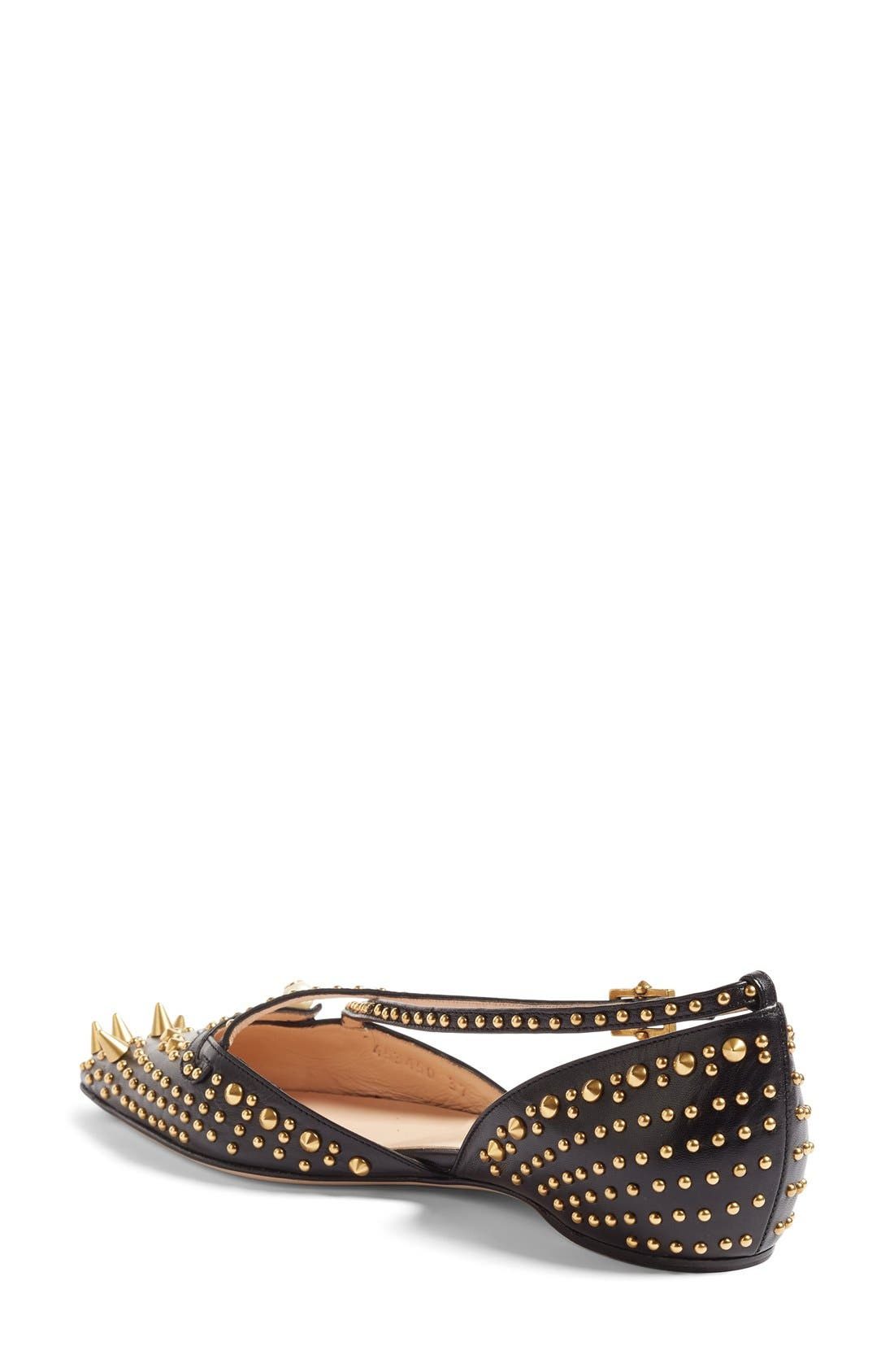 Alternate Image 2  - Gucci Unia Studded Flat (Women)