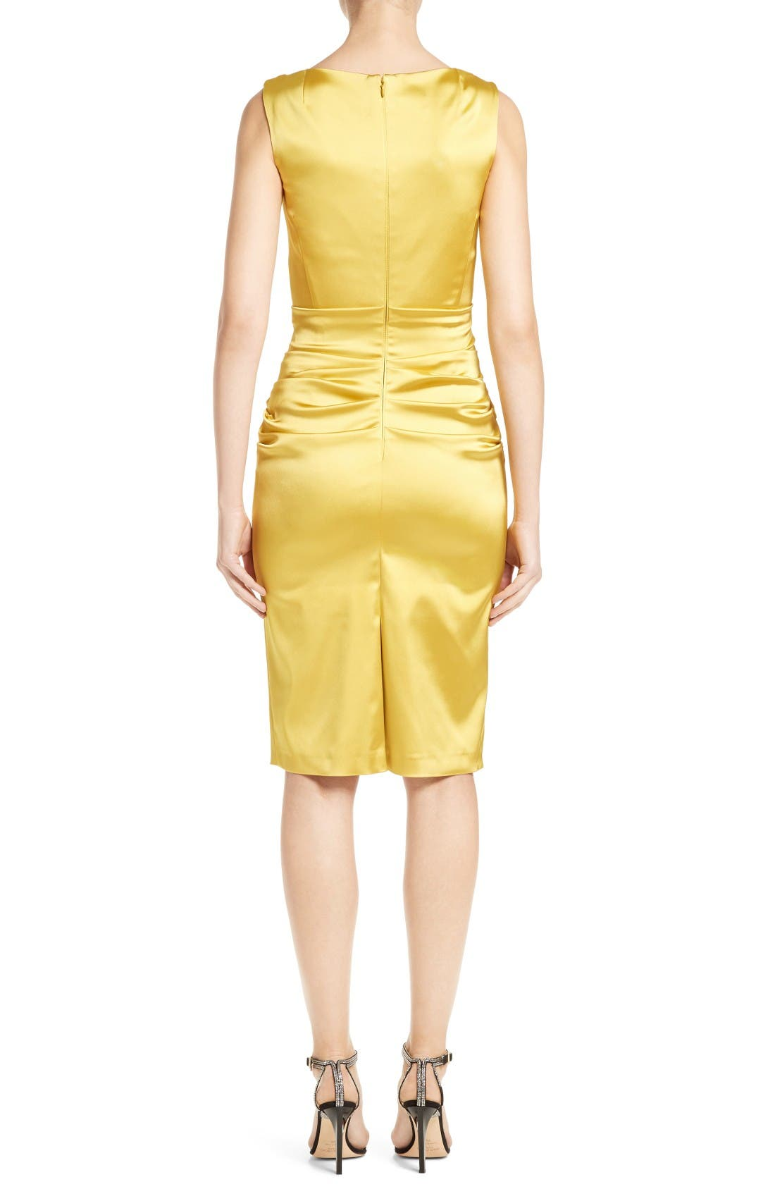 Alternate Image 2  - Talbot Runhof Stretch Satin Sheath Dress