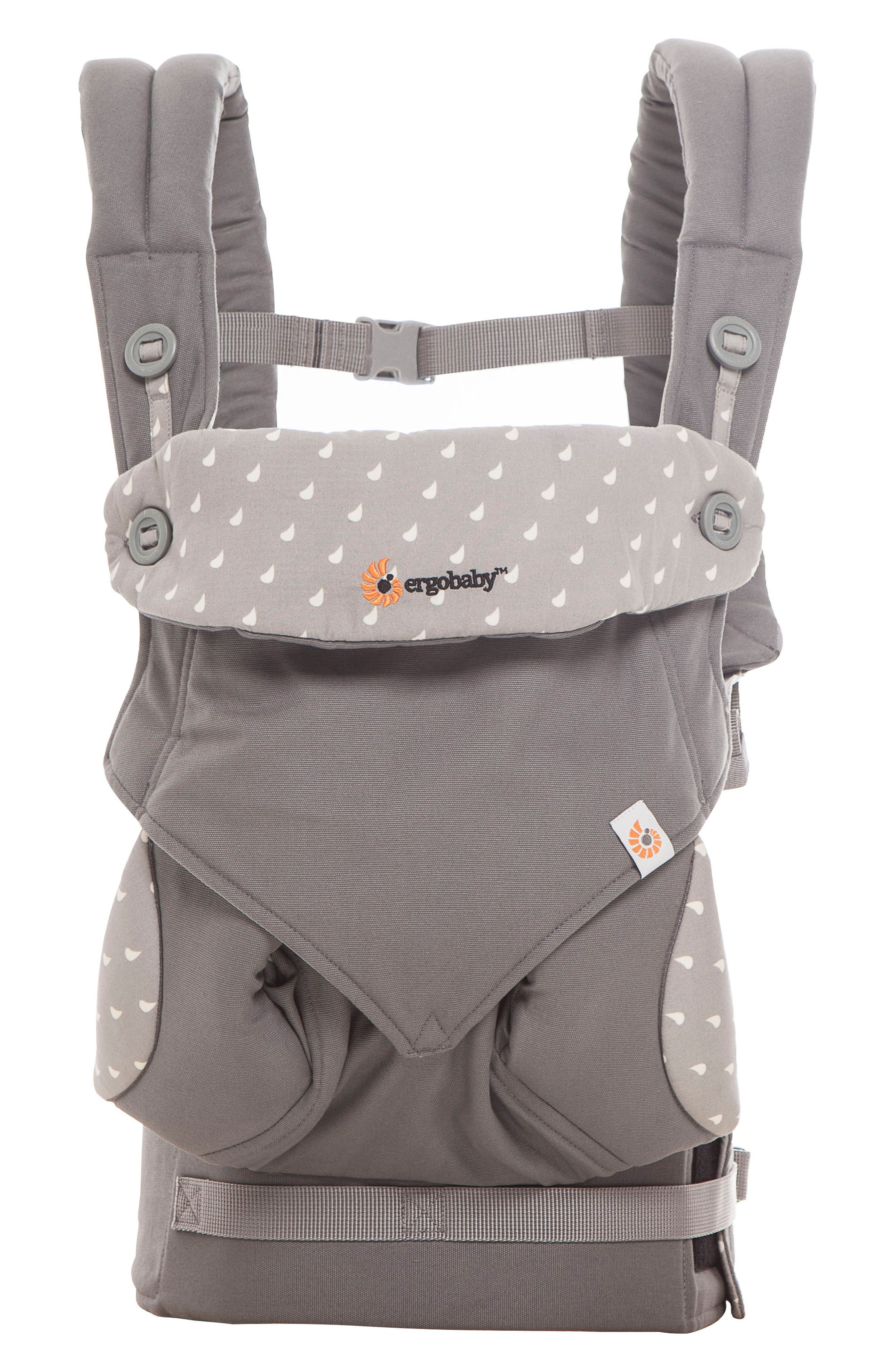 Four Position 360 Baby Carrier,                         Main,                         color, Dewy Grey