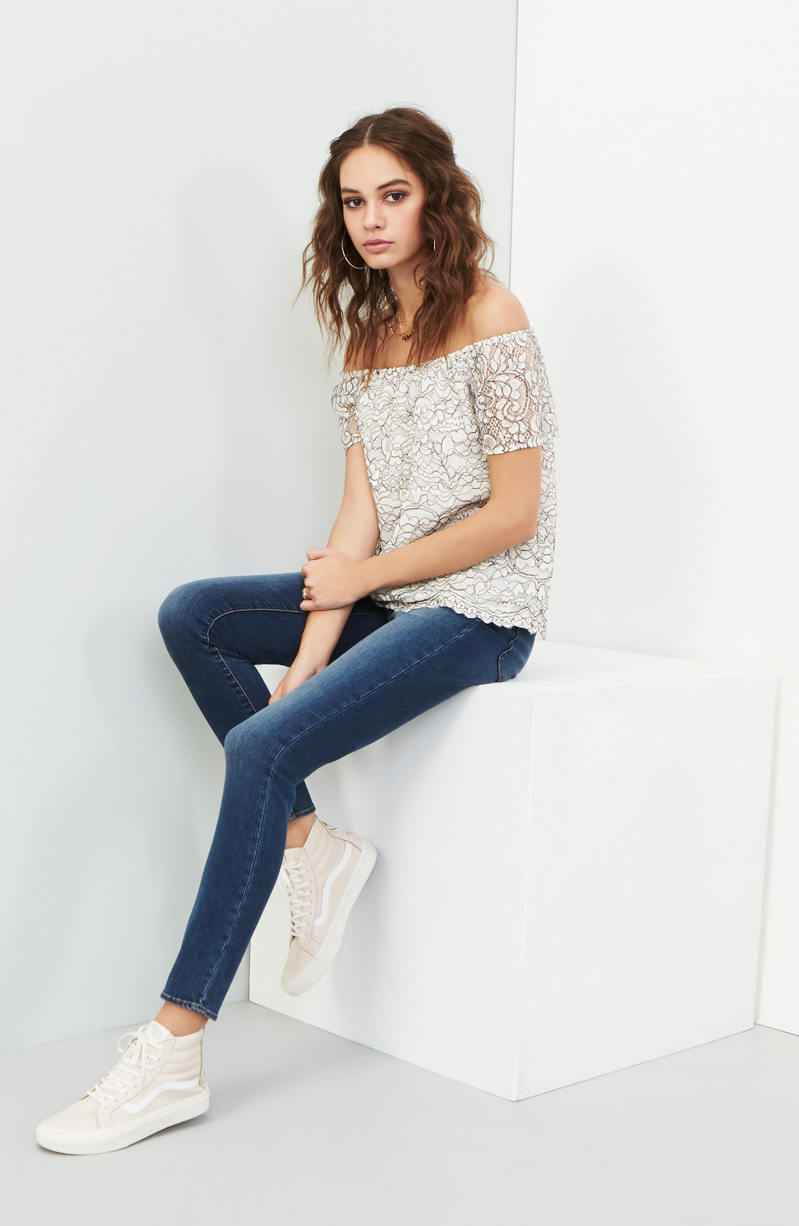 Alternate Image 7  - Articles of Society Sarah Skinny Jeans (Bancroft)