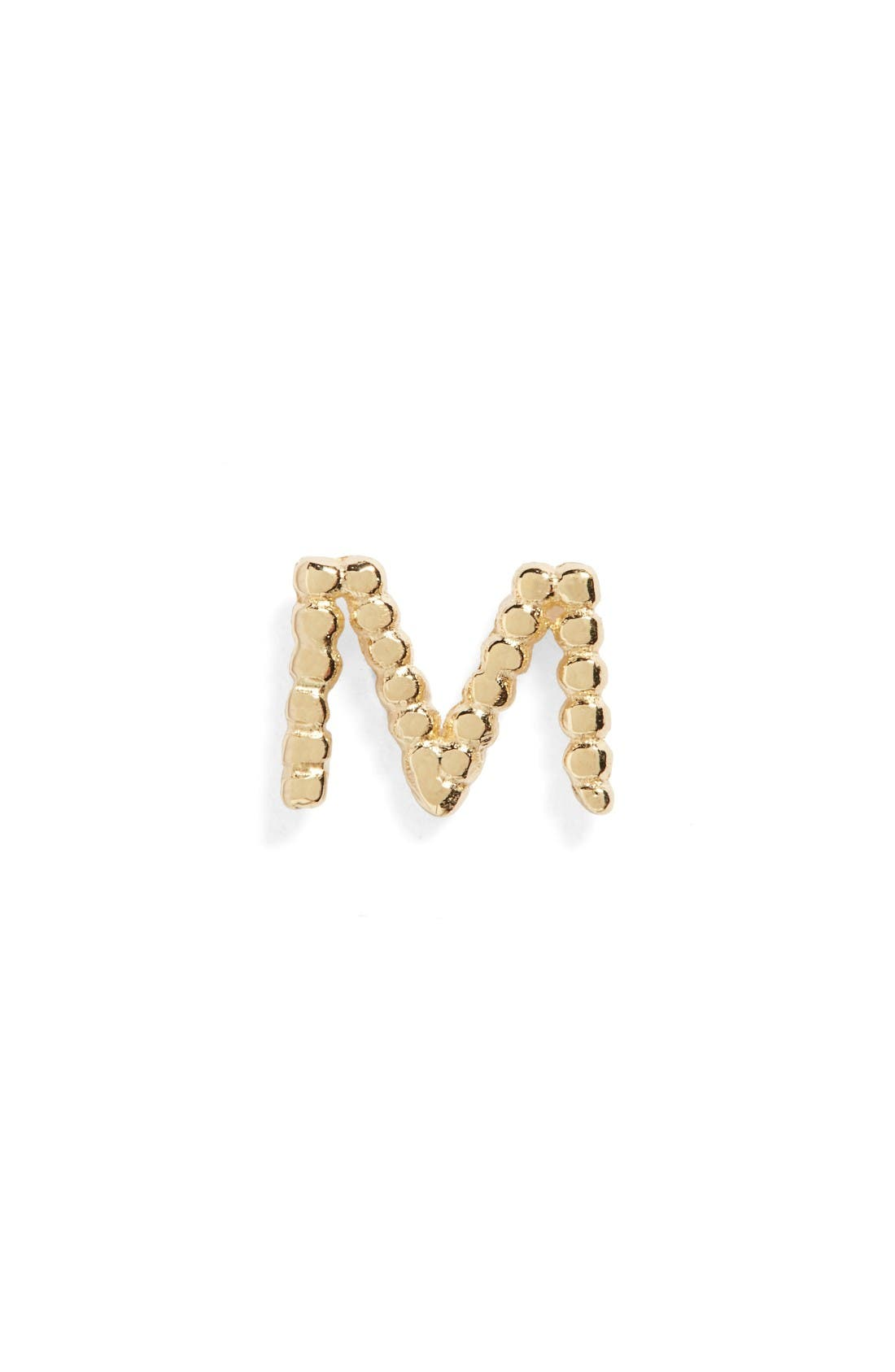 Main Image - Bony Levy Single Initial Stud Earring (Nordstrom Exclusive)