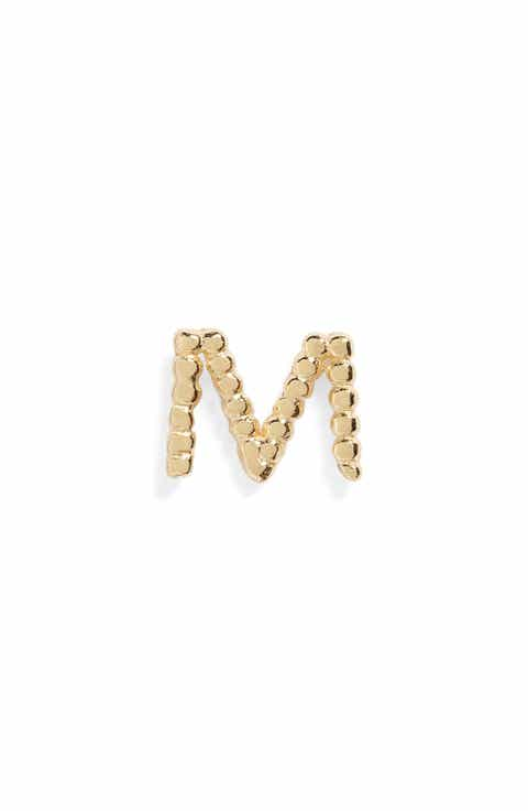 Bony Levy Single Initial Stud Earring Nordstrom Exclusive
