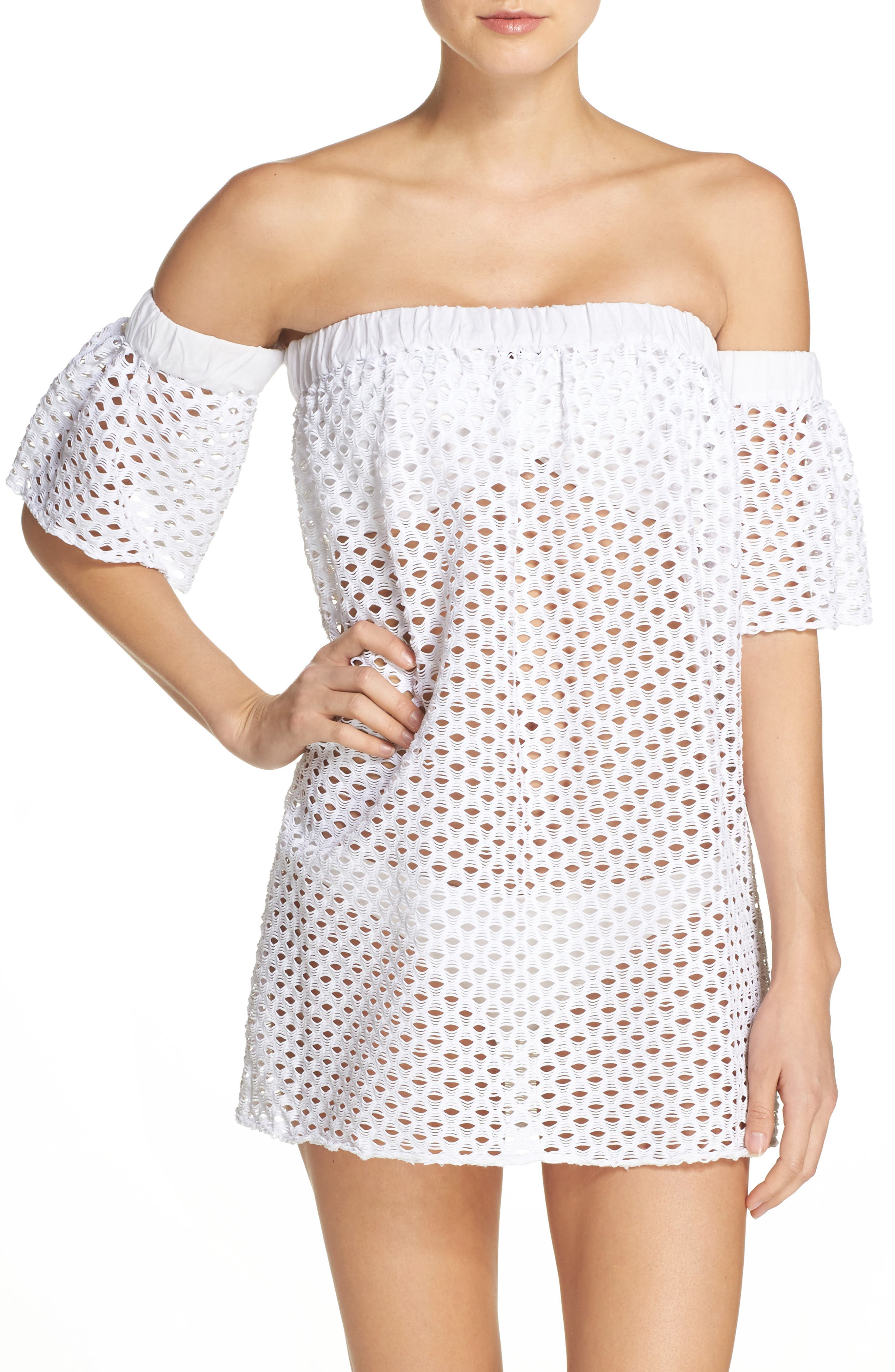 Alternate Image 1 Selected - Milly Off the Shoulder Cover-Up