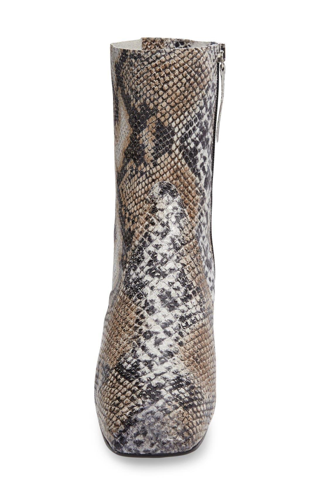 Alternate Image 3  - Topshop Max Snake Embossed Bootie (Women)
