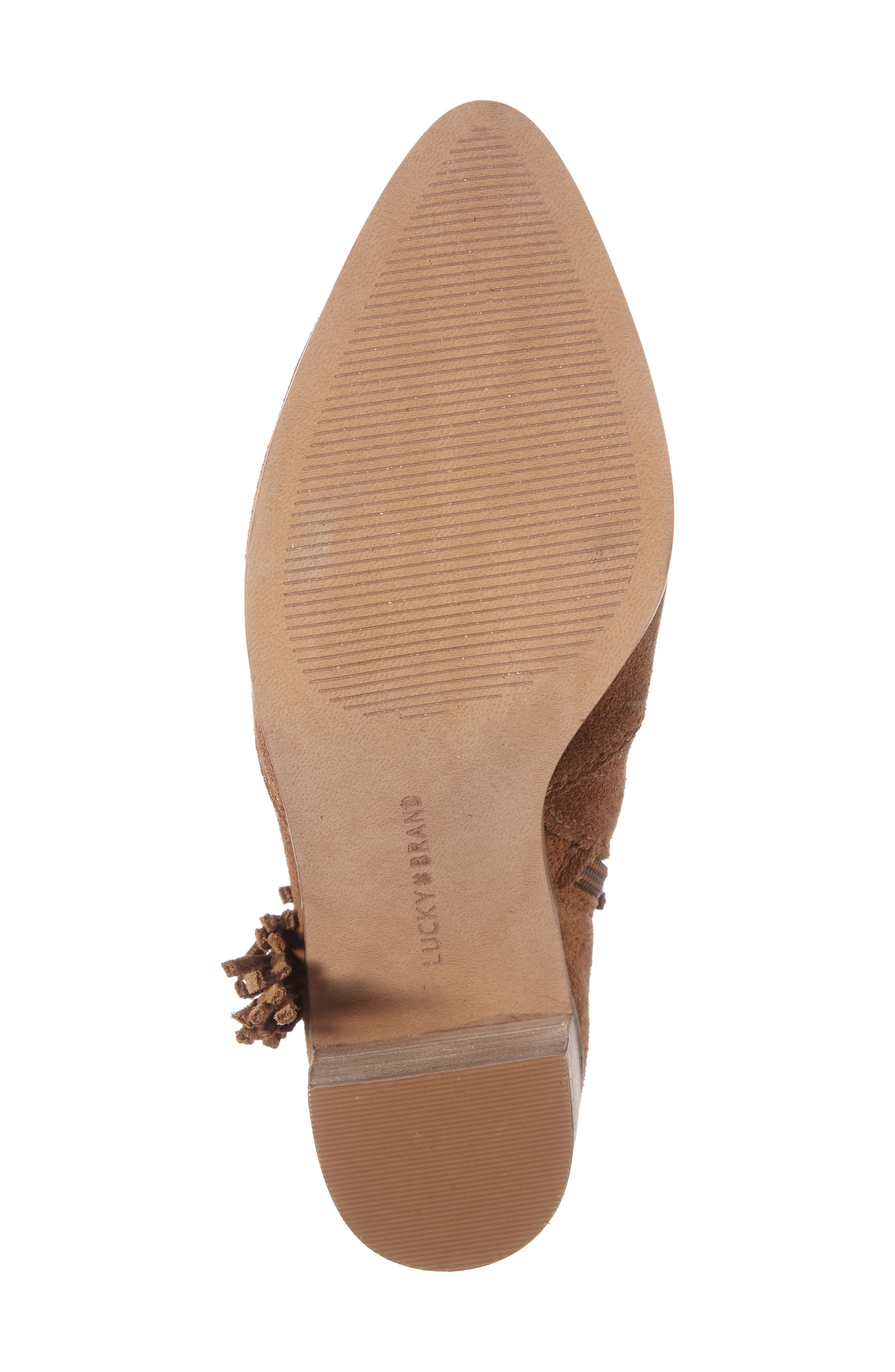 Alternate Image 4  - Lucky Brand Mercerr Pointy Toe Fringe Bootie (Women)