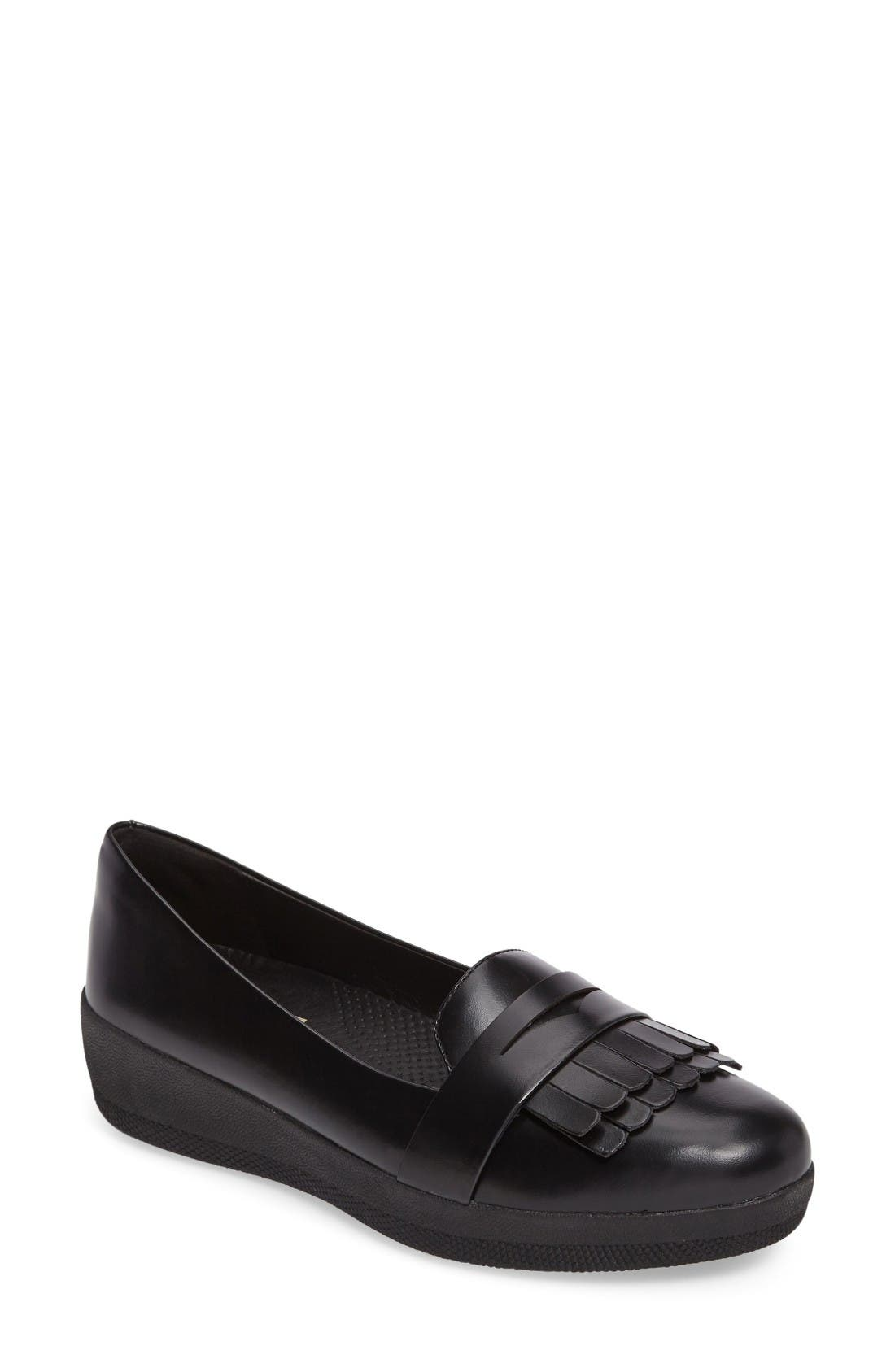 Main Image - FitFlop Fringey Loafer (Women)