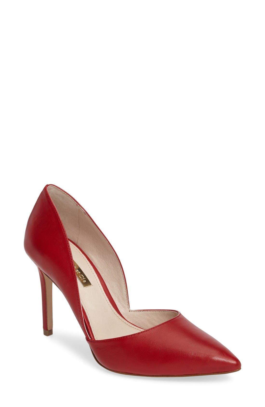 'Hermosah' Pump,                         Main,                         color, Le Rouge Leather
