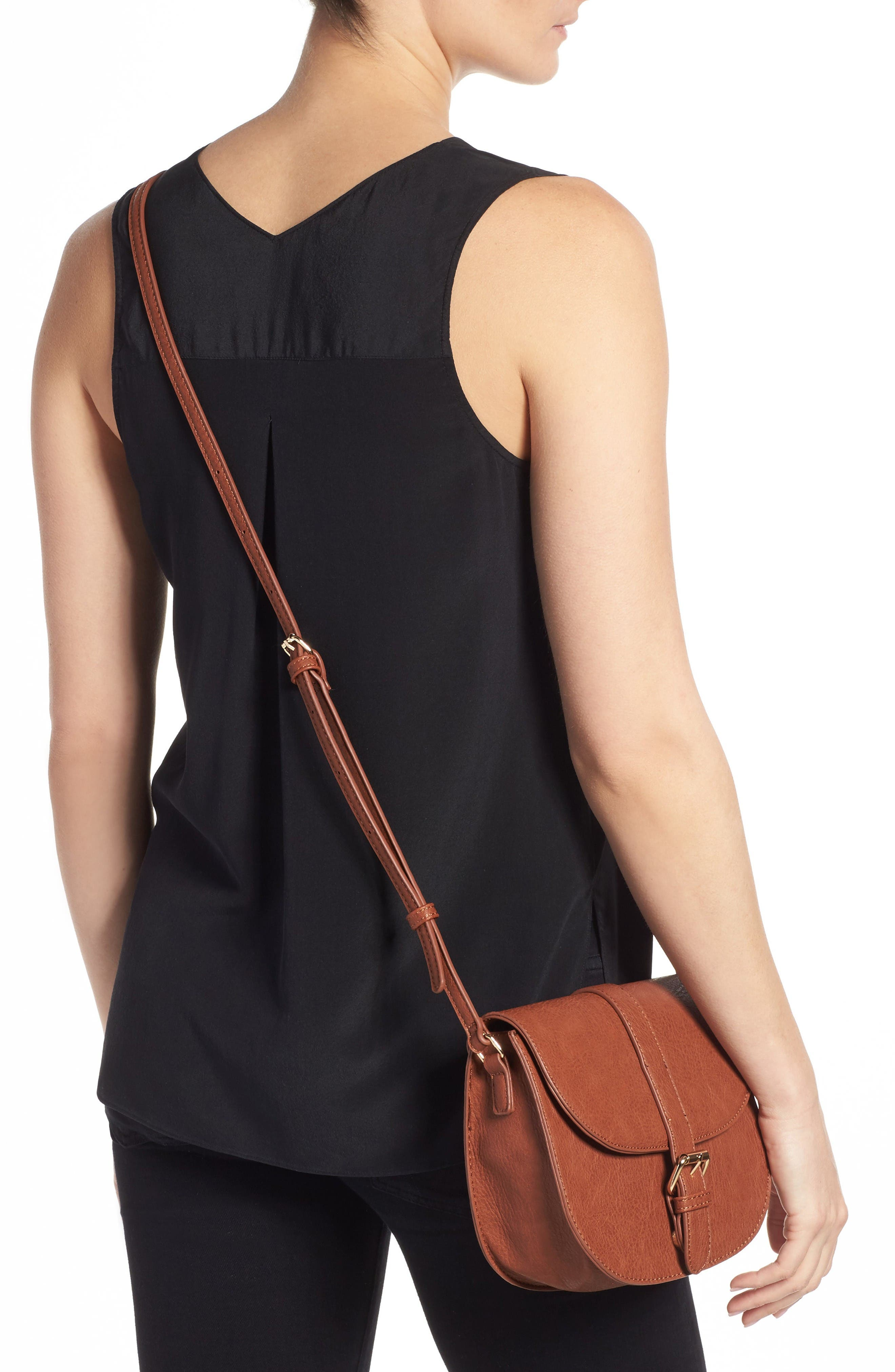 Alternate Image 2  - Emperia Faux Leather Saddle Bag (Special Purchase)