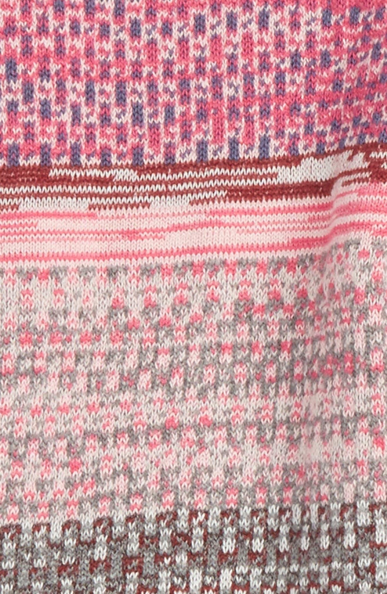Pattern Knit Leggings,                             Alternate thumbnail 2, color,                             Pink Magenta Spacedye