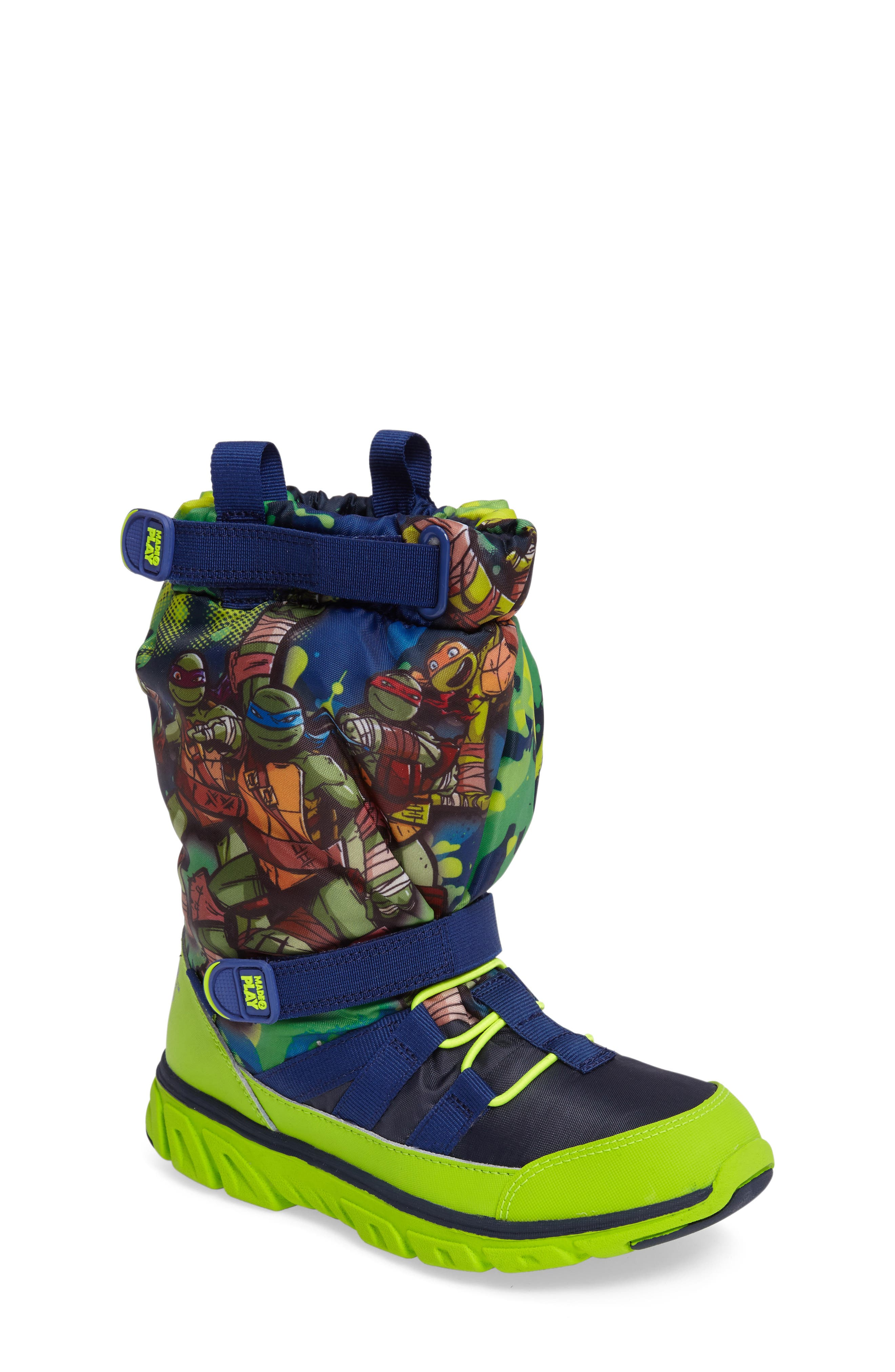 Alternate Image 1 Selected - Stride Rite Made2Play Teenage Mutant Ninja Turtles Sneaker Boot (Baby, Walker, Toddler & Little Kid)