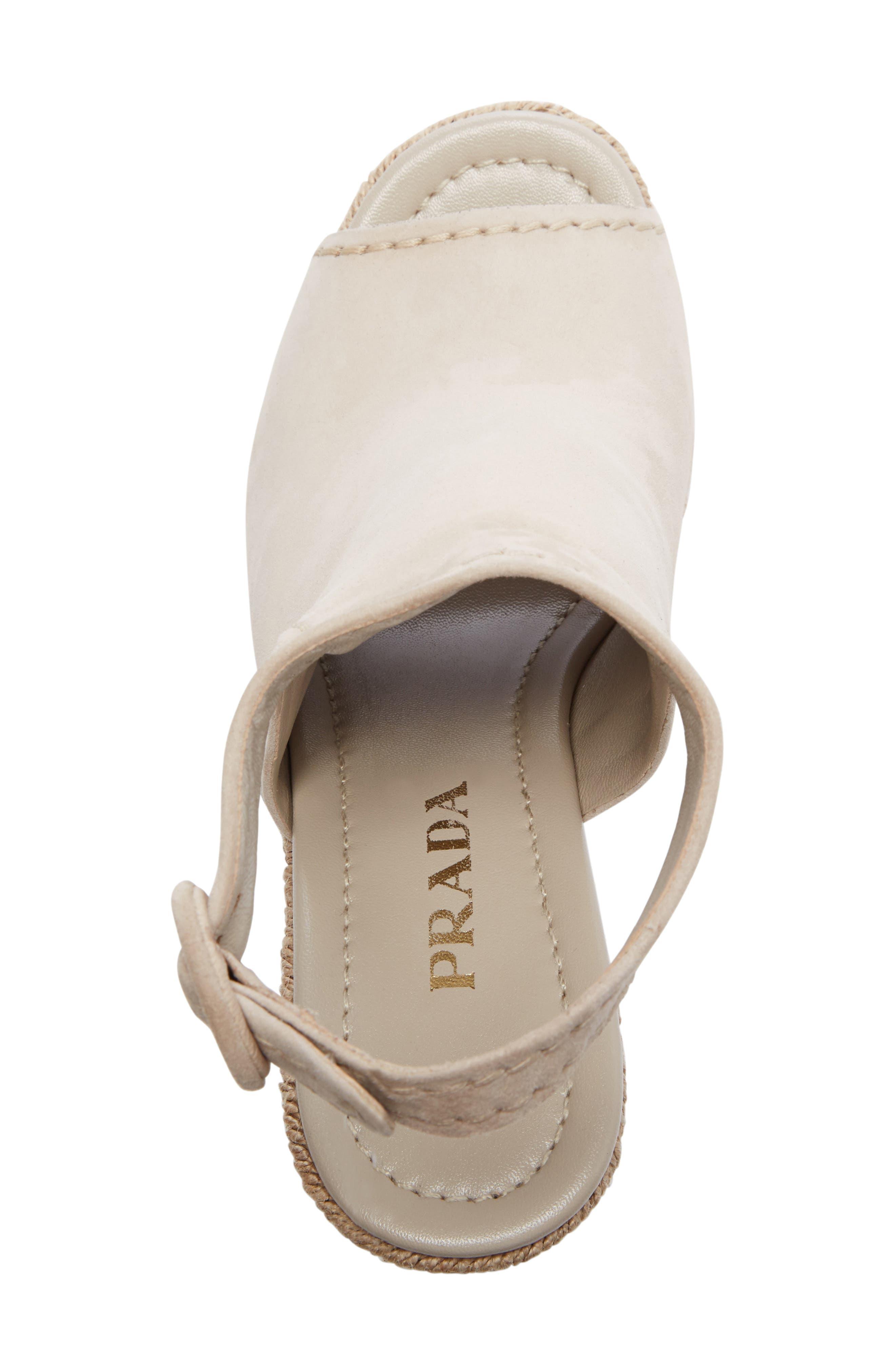 Ankle Strap Espadrille Wedge Sandal,                             Alternate thumbnail 3, color,                             Beige