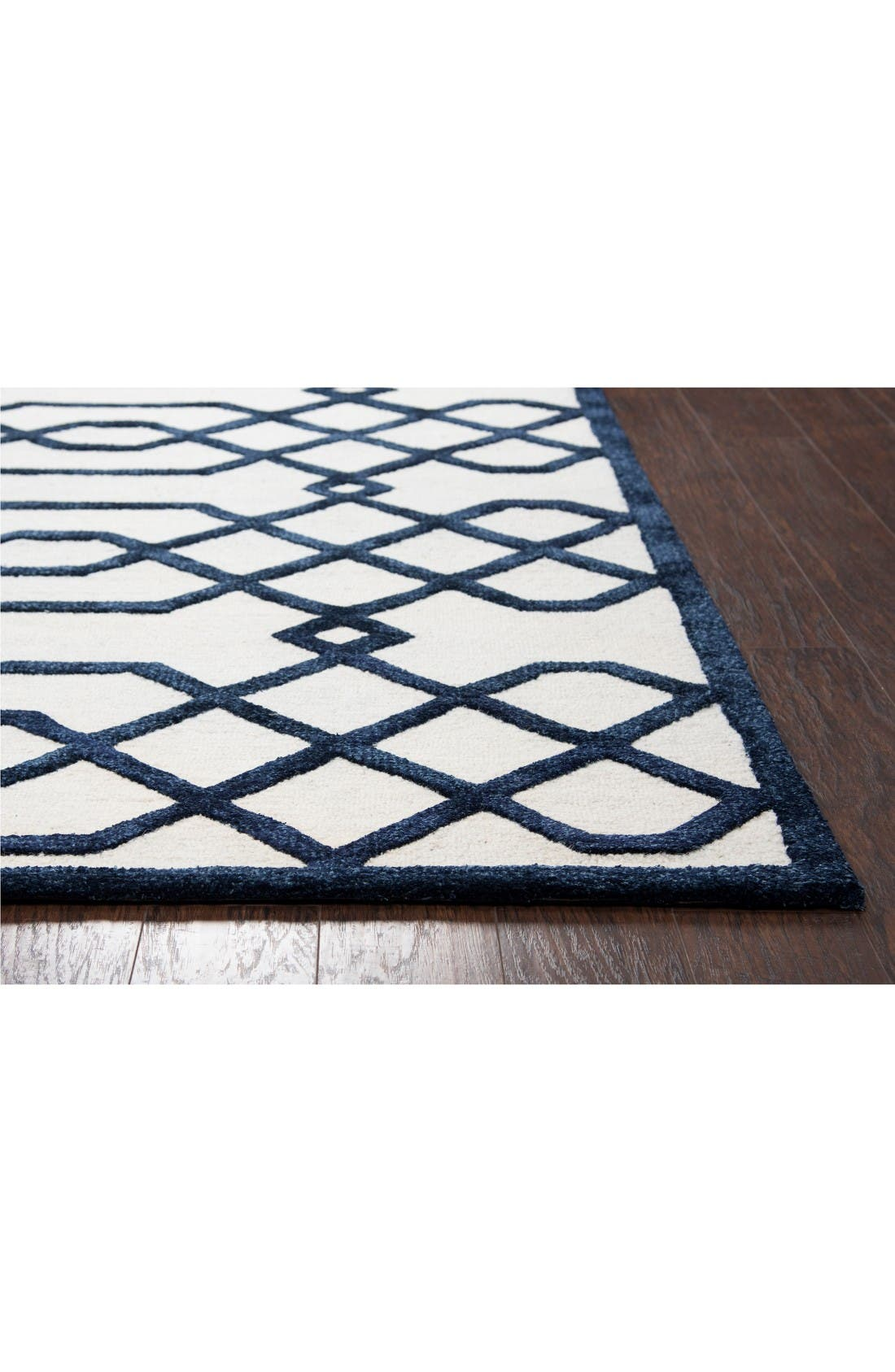 Alternate Image 2  - Rizzy Home Lattice Scroll Hand Tufted Wool Area Rug