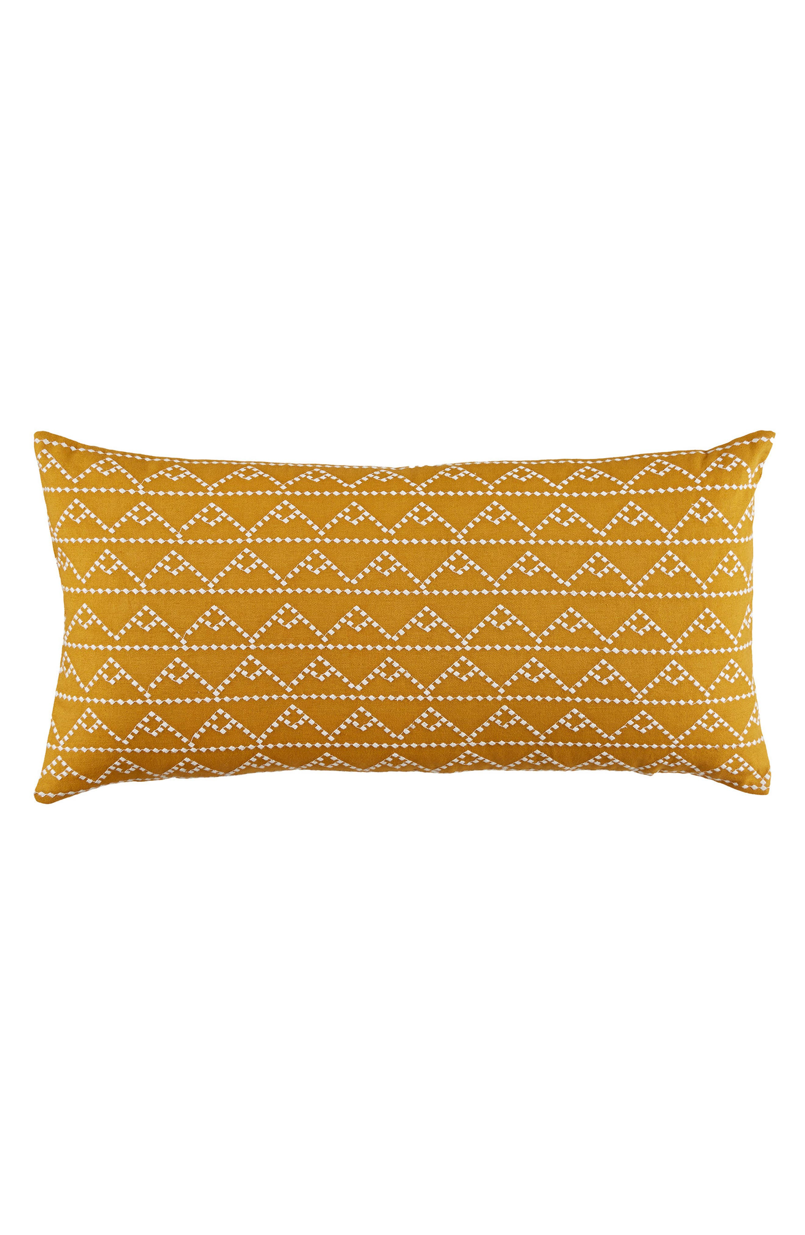 Modern Pyramid Accent Pillow,                         Main,                         color, Gold