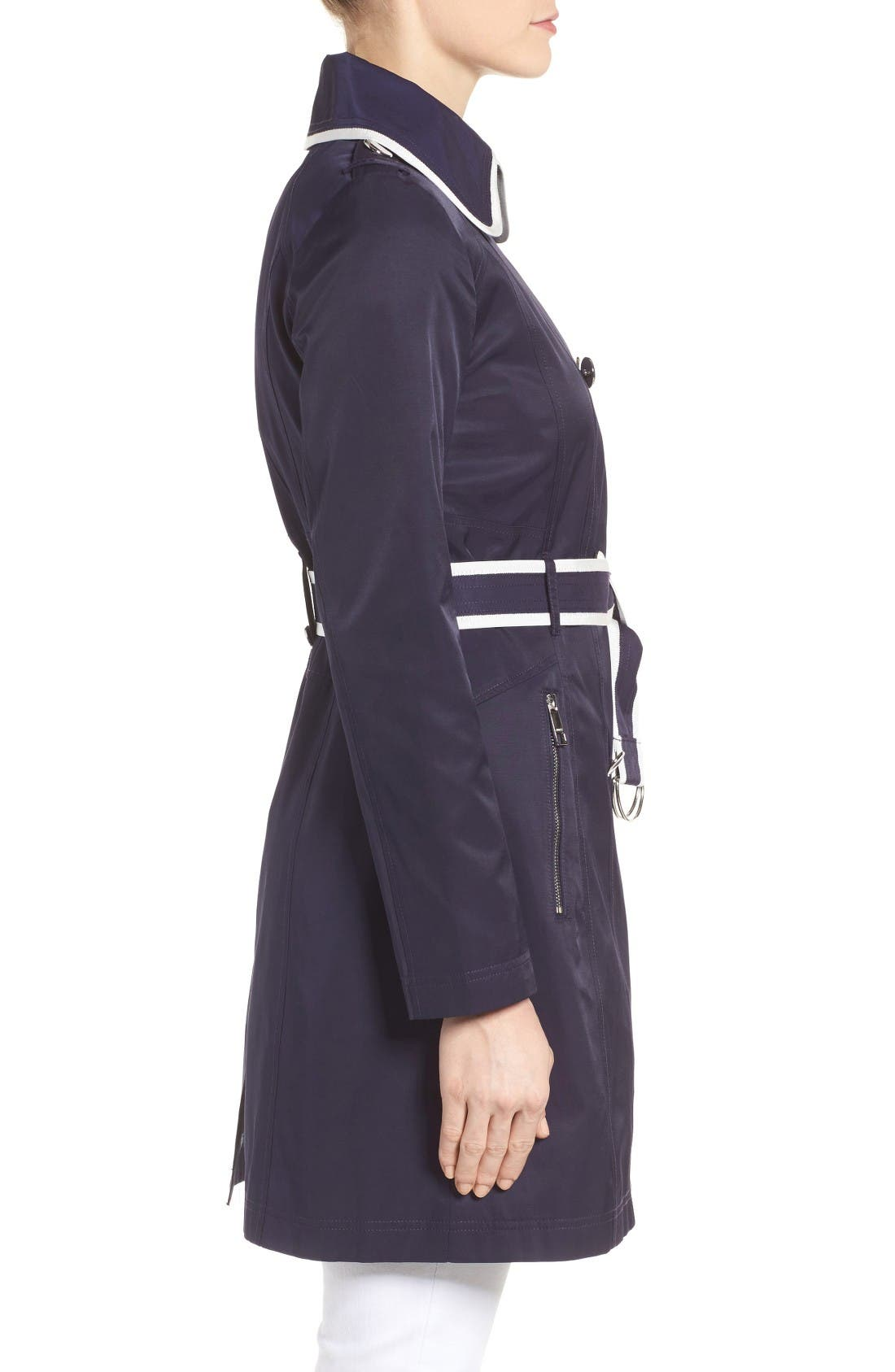 Alternate Image 3  - GUESS Piped Trench Coat