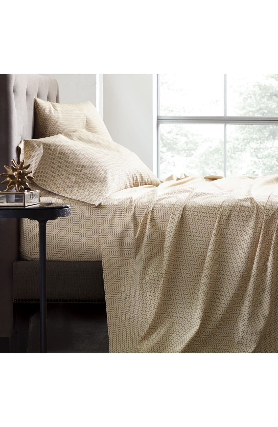 Fez Ochre 200 Thread Count Sheet Set,                         Main,                         color, White