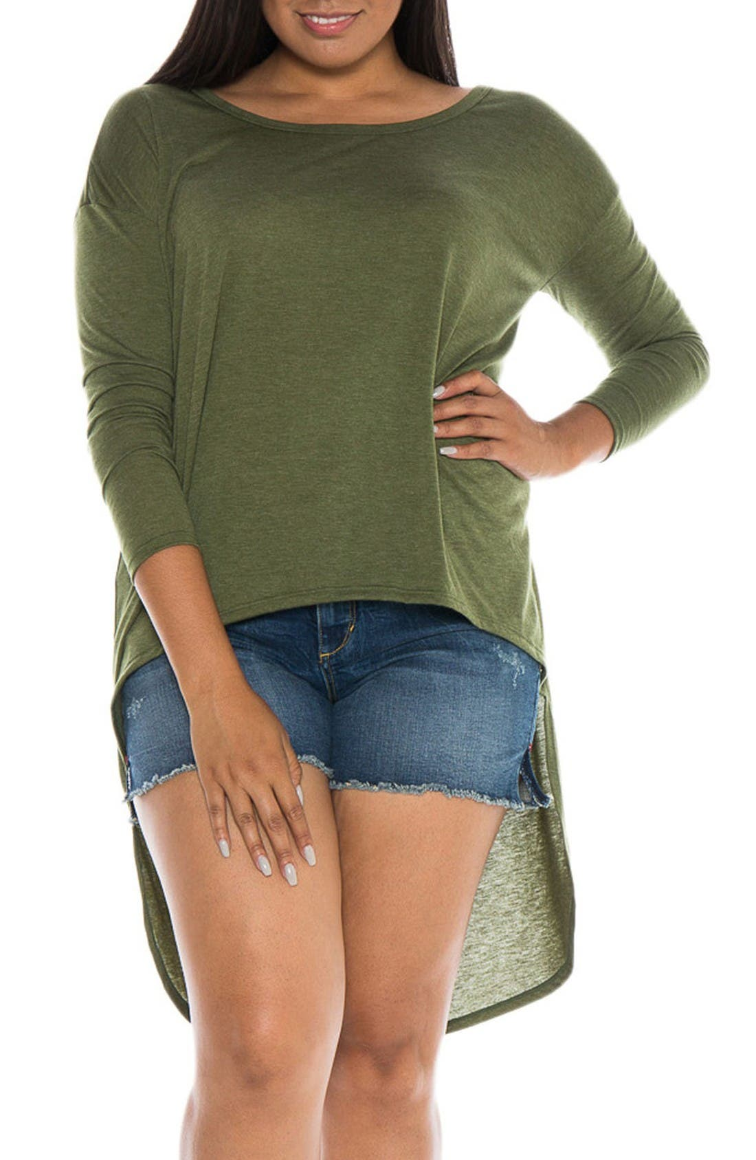 High/Low Top,                             Main thumbnail 1, color,                             Olive