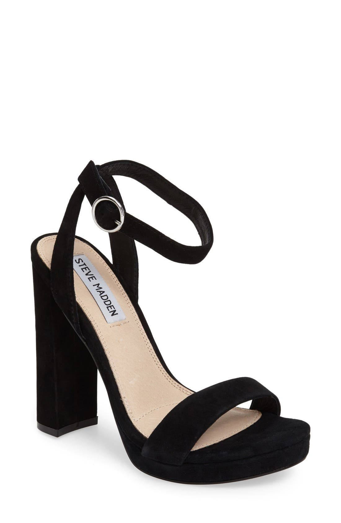 Addon Strappy Sandal,                         Main,                         color, Black Suede
